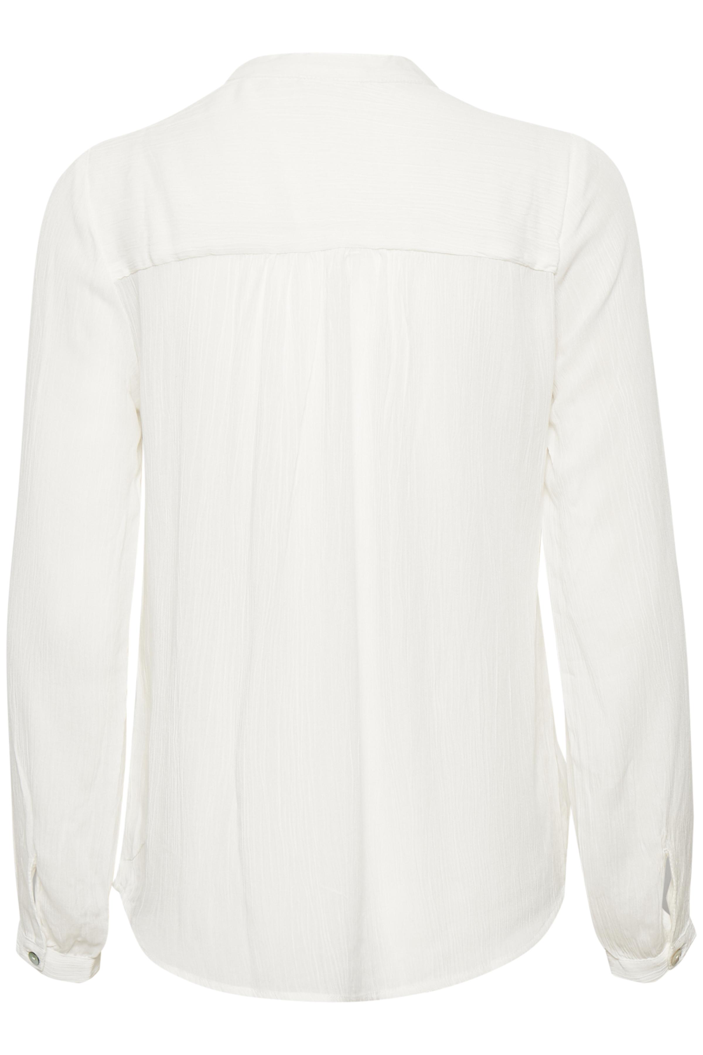Off-white Langærmet bluse fra Kaffe – Køb Off-white Langærmet bluse fra str. 34-46 her