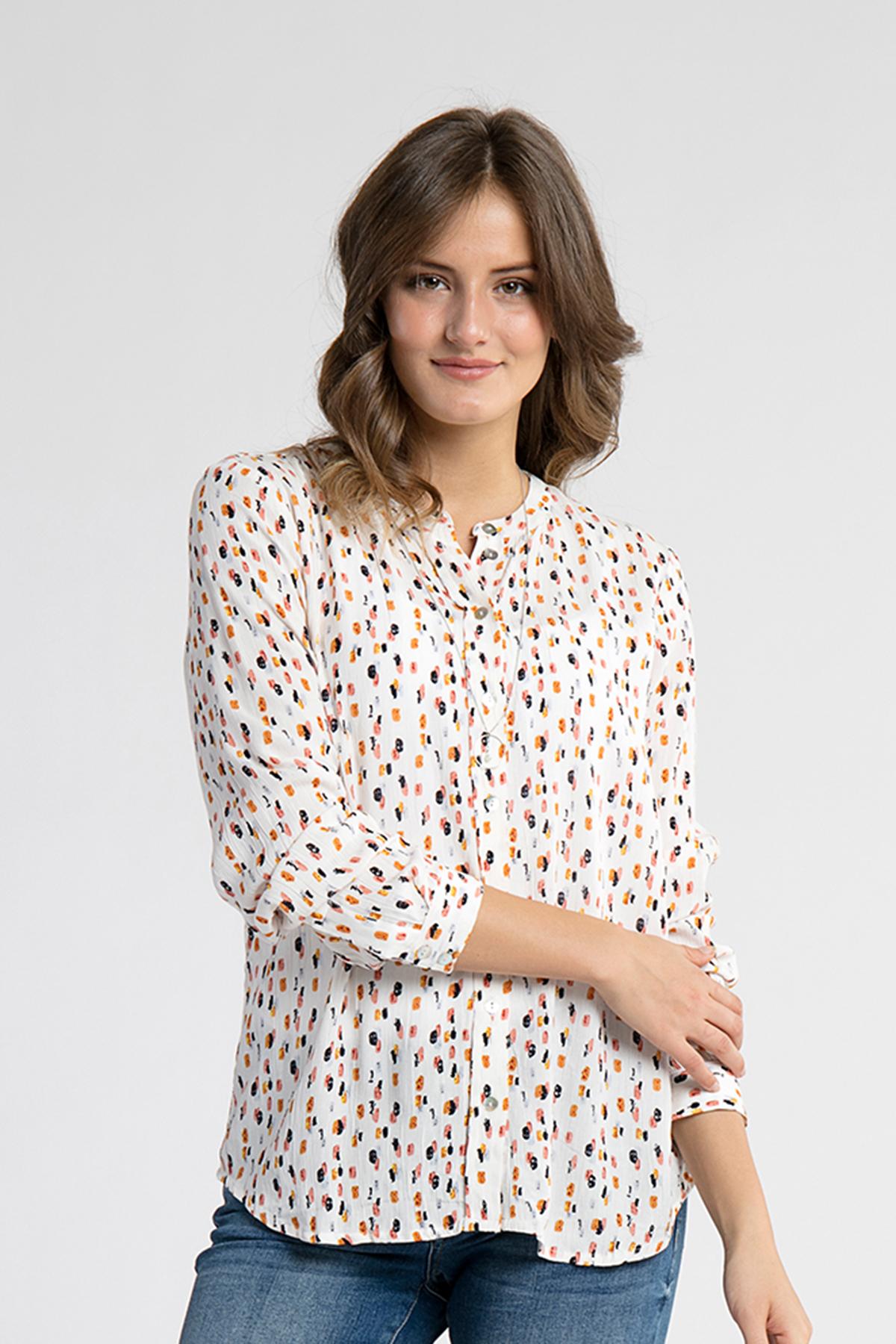 Off-white Langærmet skjorte fra Kaffe – Køb Off-white Langærmet skjorte fra str. 34-46 her