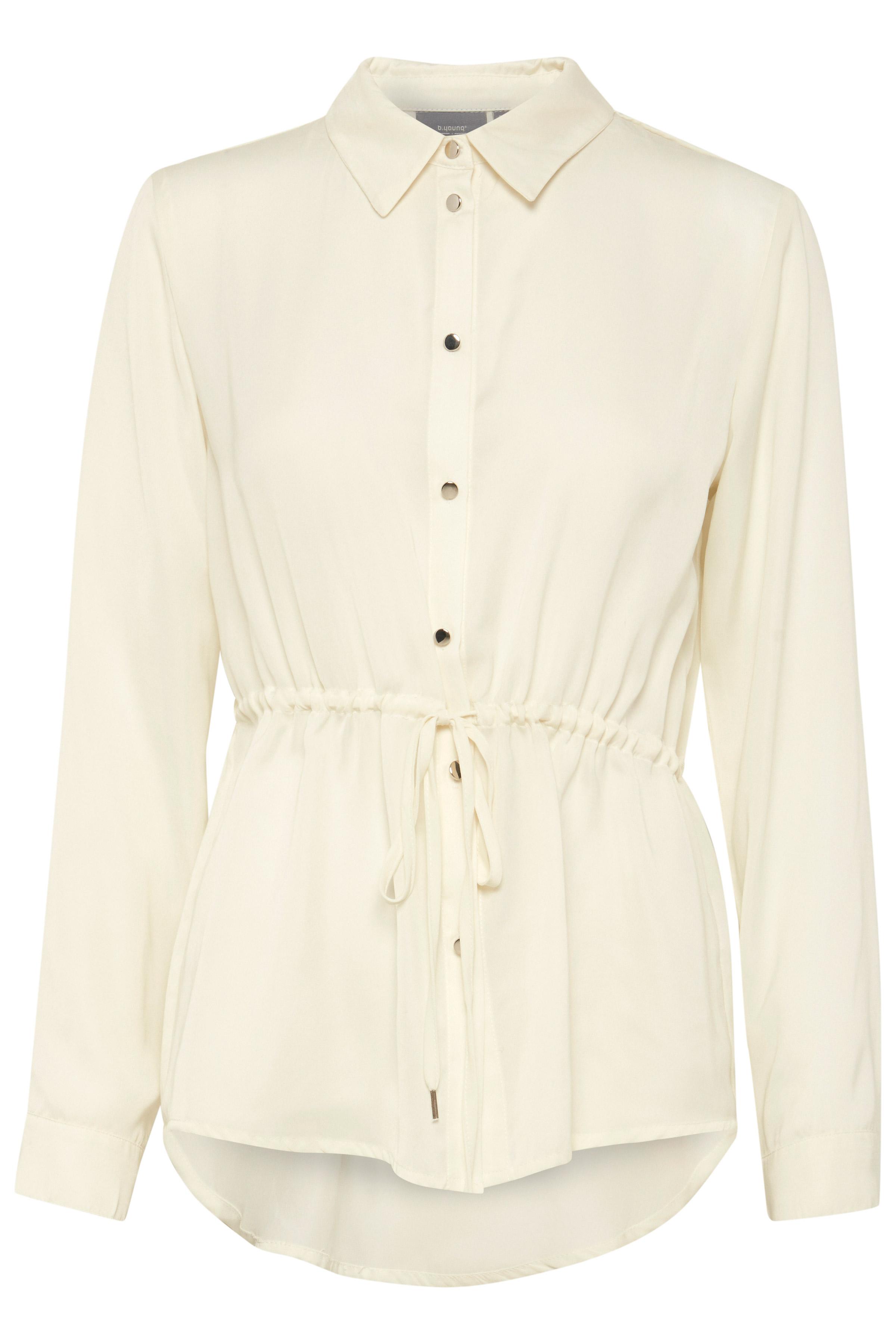 Image of b.young Dame Feminin Farcia skjortebluse - Off-white