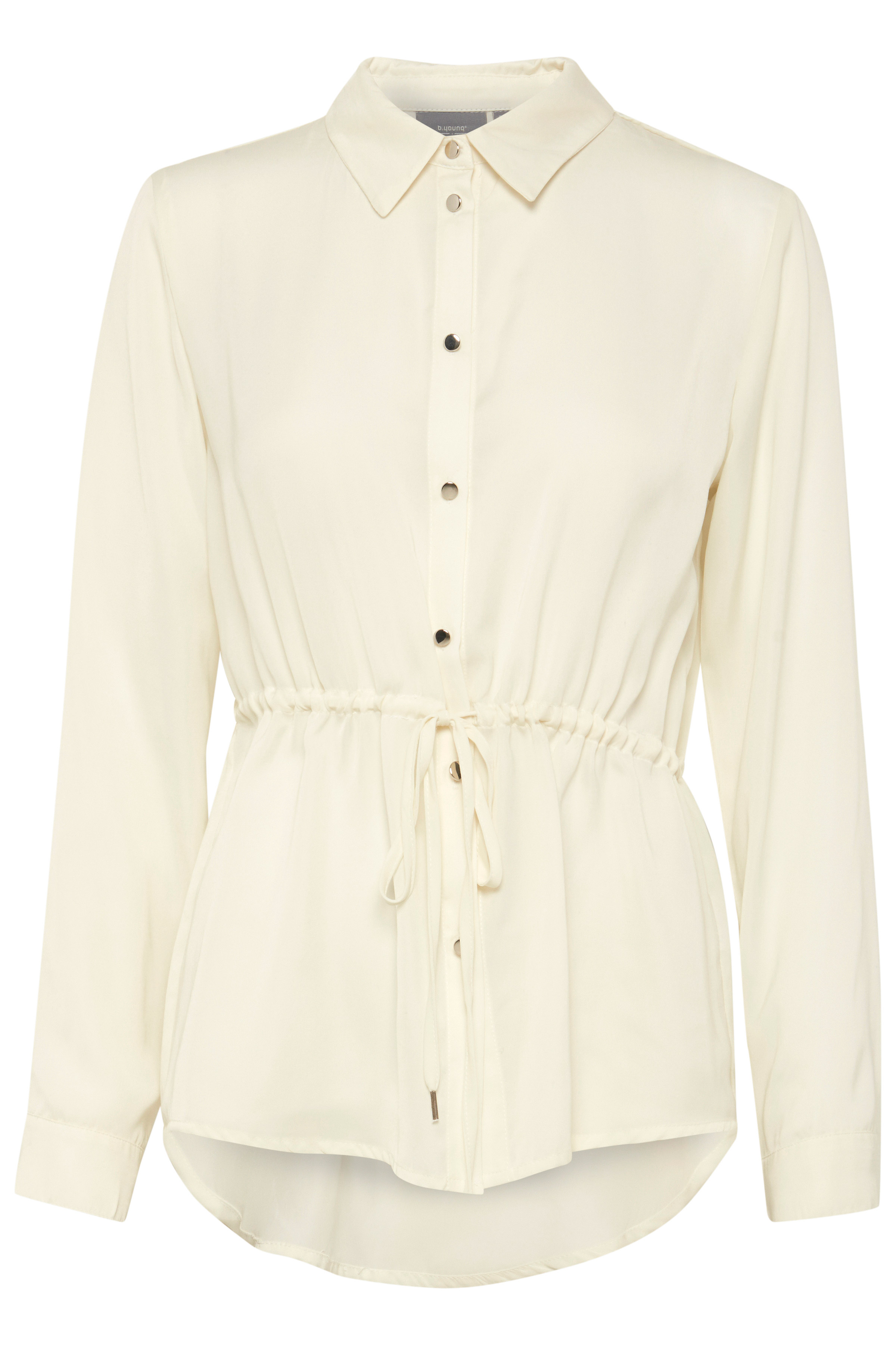 Off-white Langærmet skjorte fra b.young – Køb Off-white Langærmet skjorte fra str. 34-46 her