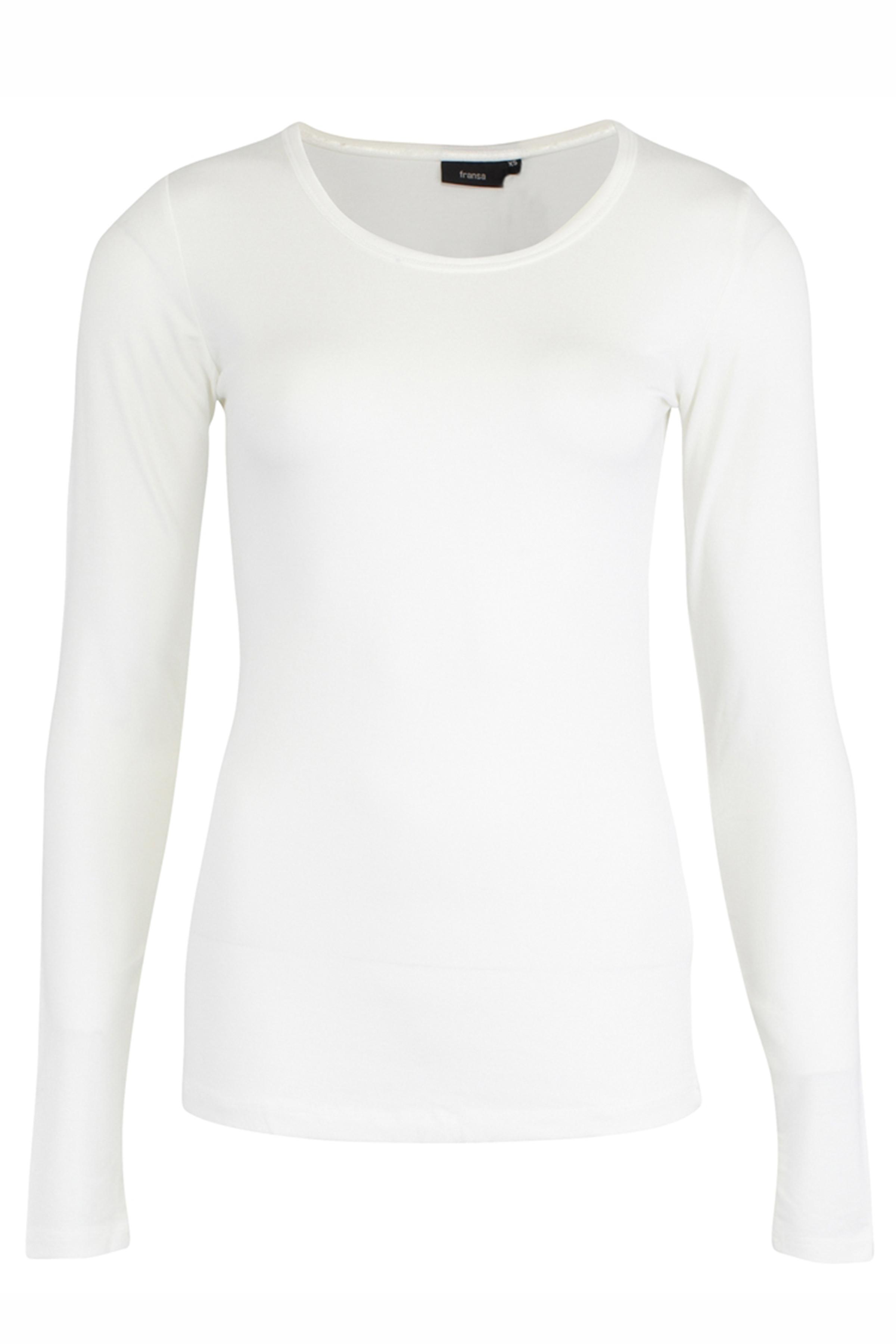 Image of Fransa Dame Langærmet T-shirt - Off-white