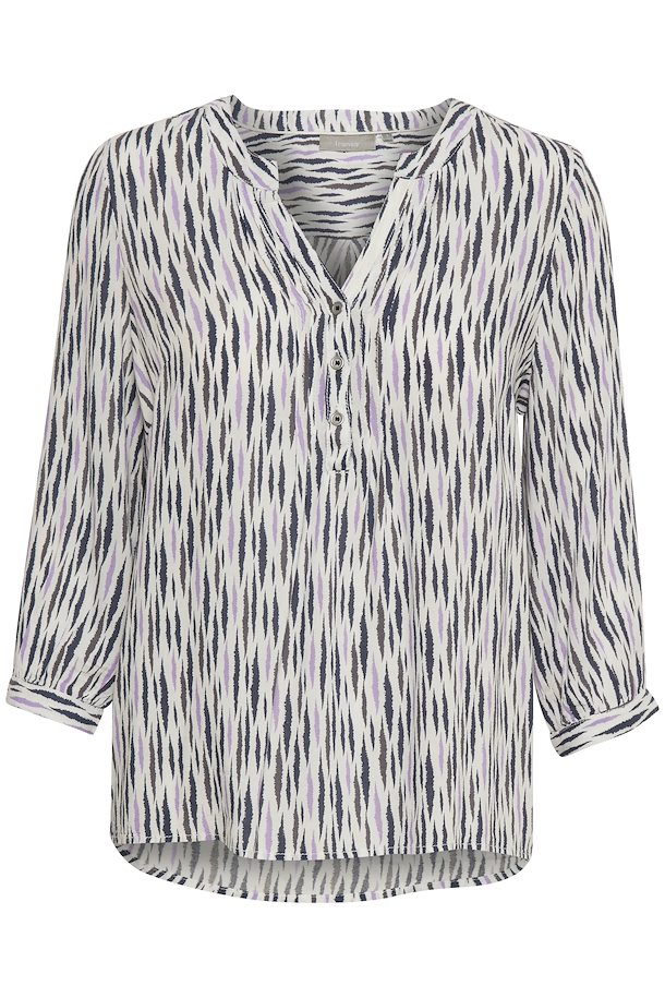 5a1924179081 Off-white lys lilla Kortærmet bluse fra Fransa – Køb Off-white lys lilla  Kortærmet bluse fra str. XS-XXL her