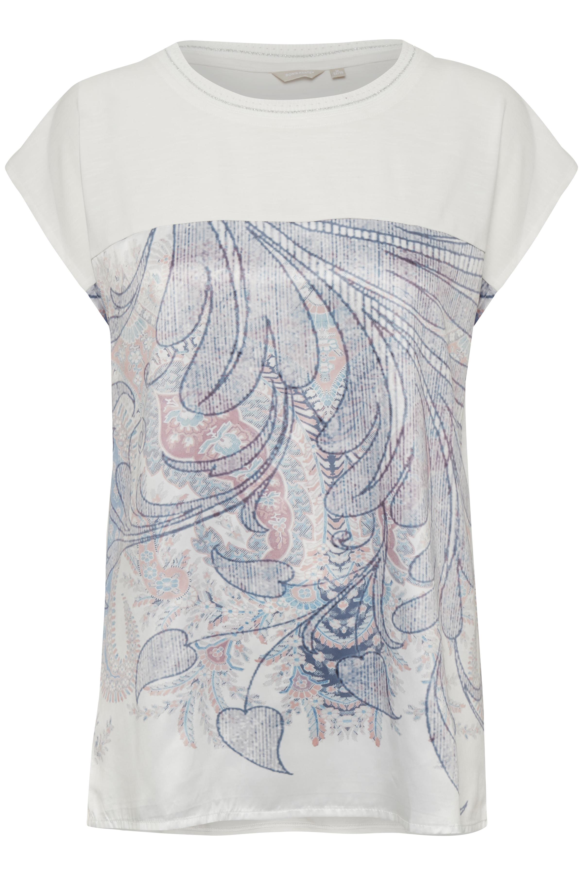 Image of BonA Parte Dame Bluse - Off-white/lyseblå