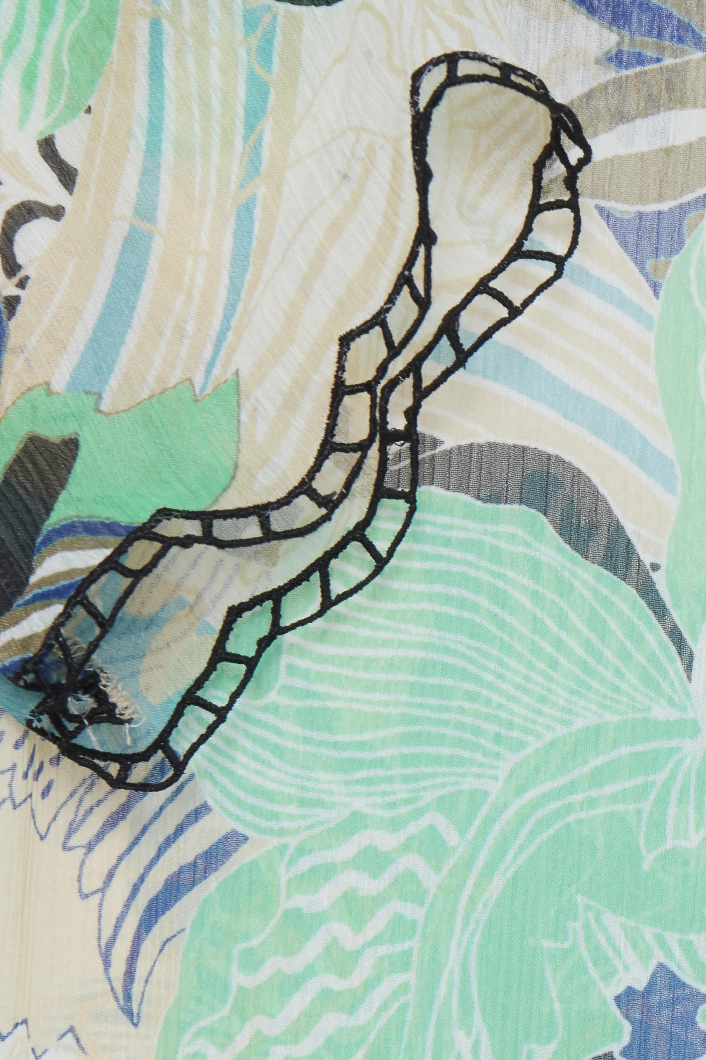 Off-white/lysegrøn Kjole fra Pulz Jeans – Køb Off-white/lysegrøn Kjole fra str. XS-XXL her