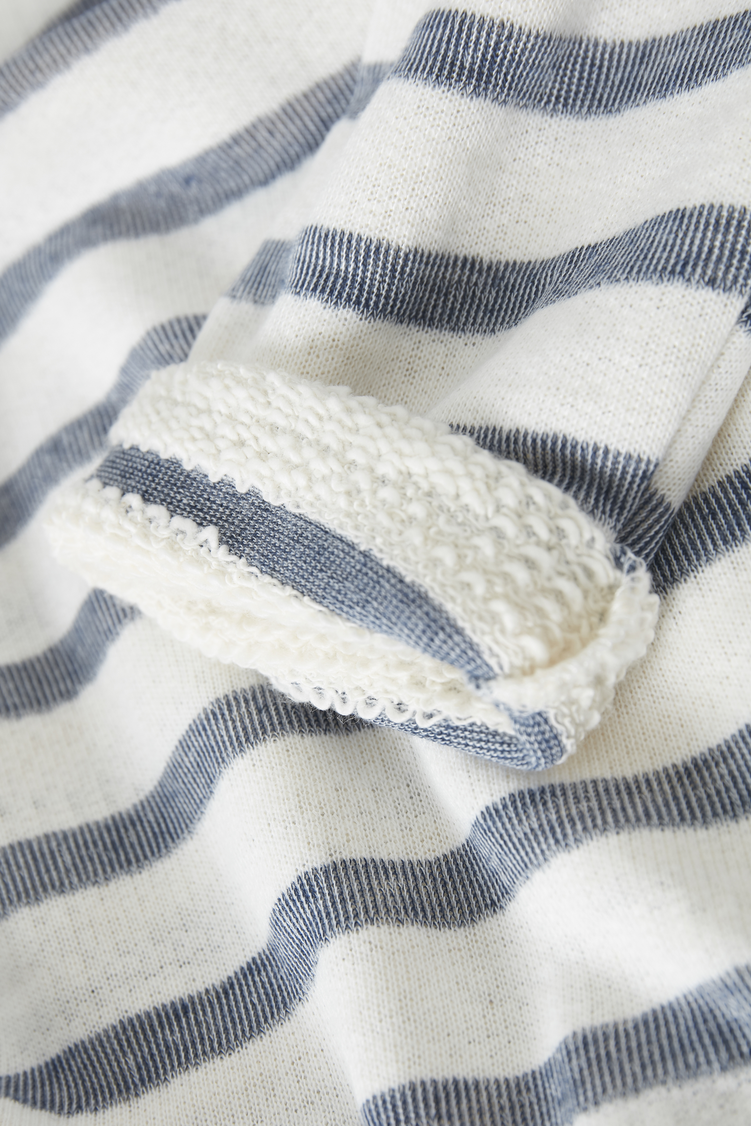 Off-white/marineblå Sweatshirt fra Bon'A Parte – Køb Off-white/marineblå Sweatshirt fra str. S-2XL her