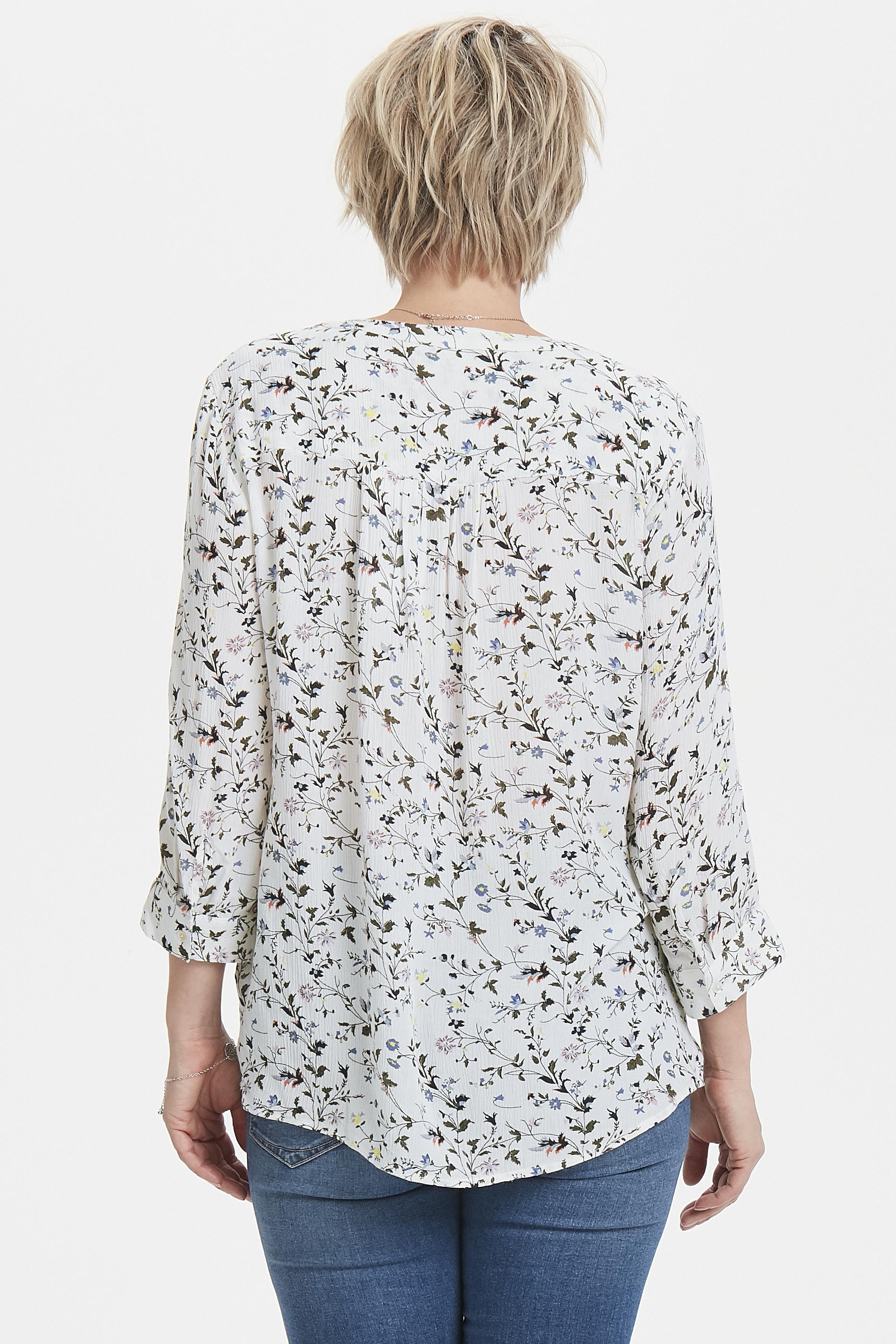 Off-white/olijfgroen Shirt van Fransa – Door Off-white/olijfgroen Shirt van maat. XS-XXL hier