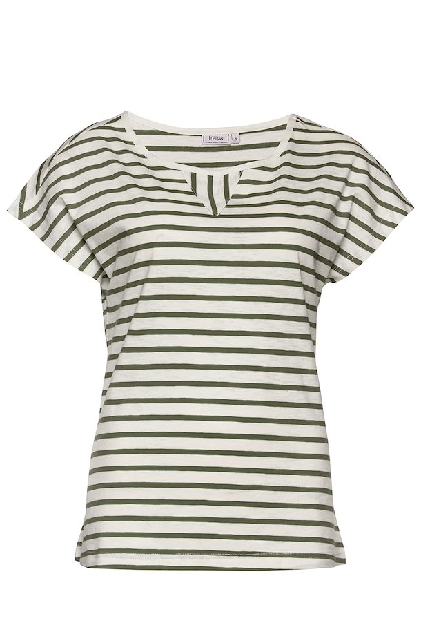b686700a9866 Off-white olivengrøn Kortærmet T-shirt fra Fransa – Køb Off-white olivengrøn  Kortærmet T-shirt fra str. XS-XXL her