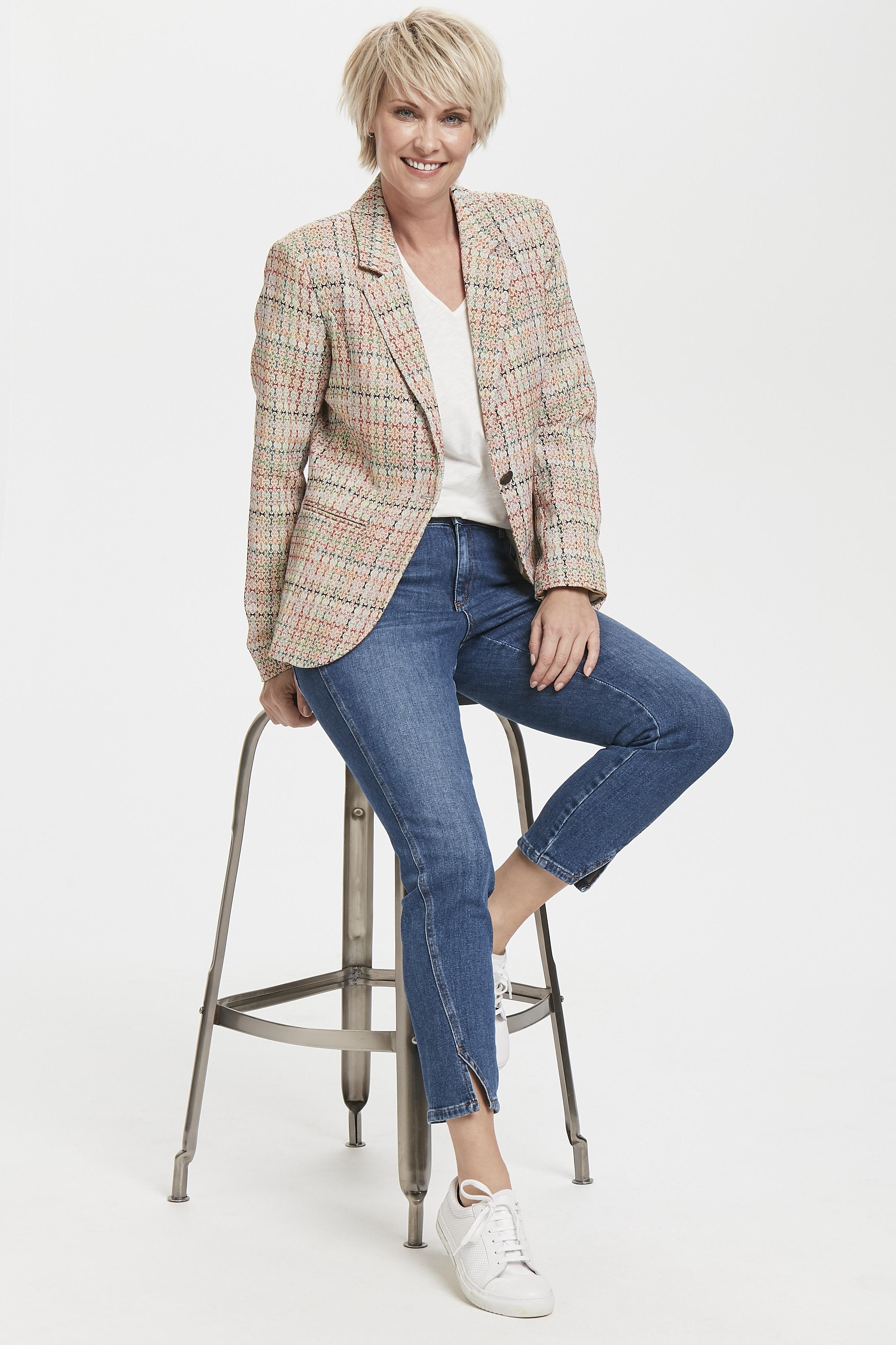 Off-white/orange Blazer från Pulz Jeans – Köp Off-white/orange Blazer från stl. 32-46 här