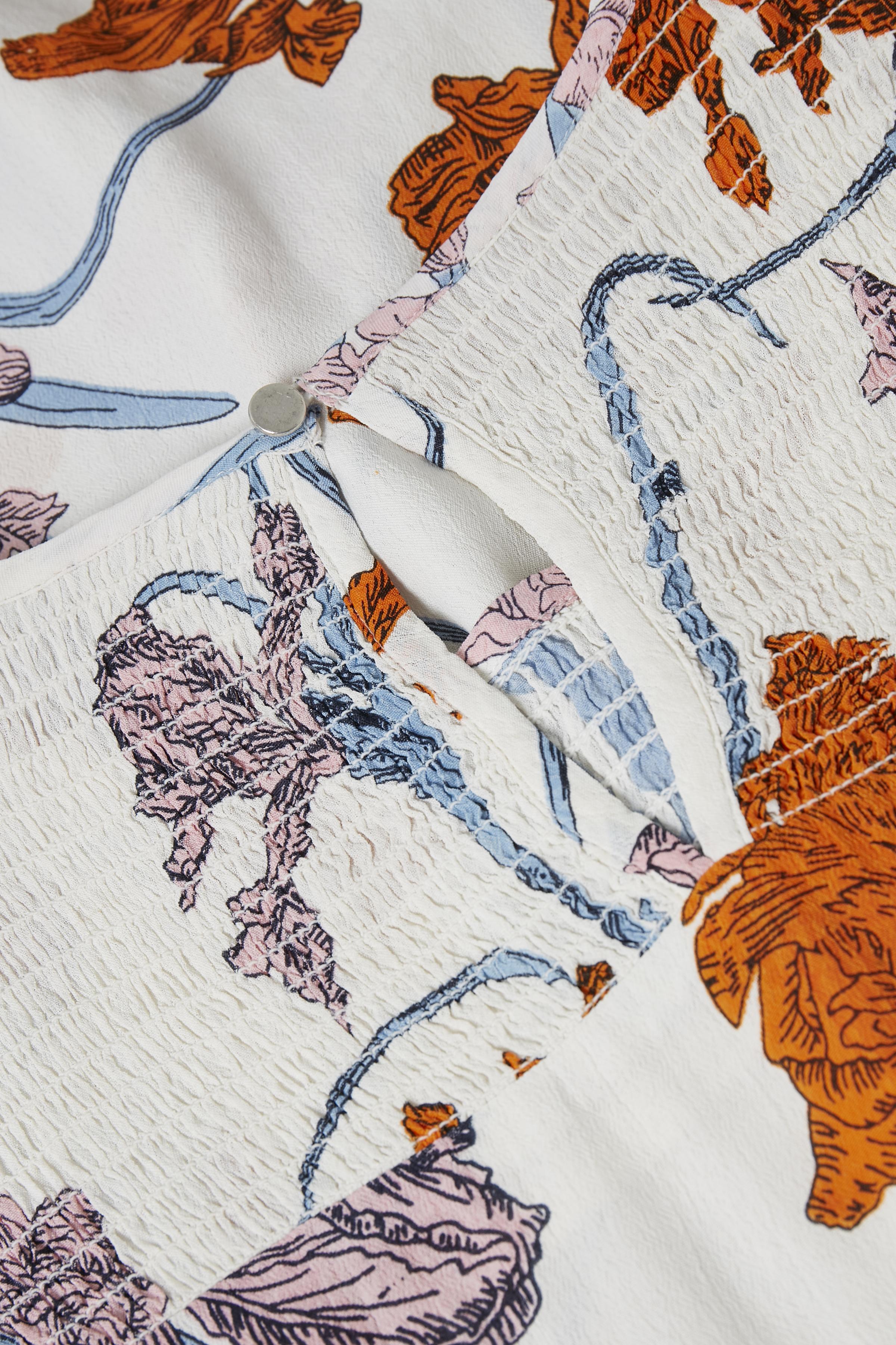 Off-white/orange Bluse fra Kaffe – Køb Off-white/orange Bluse fra str. 34-46 her
