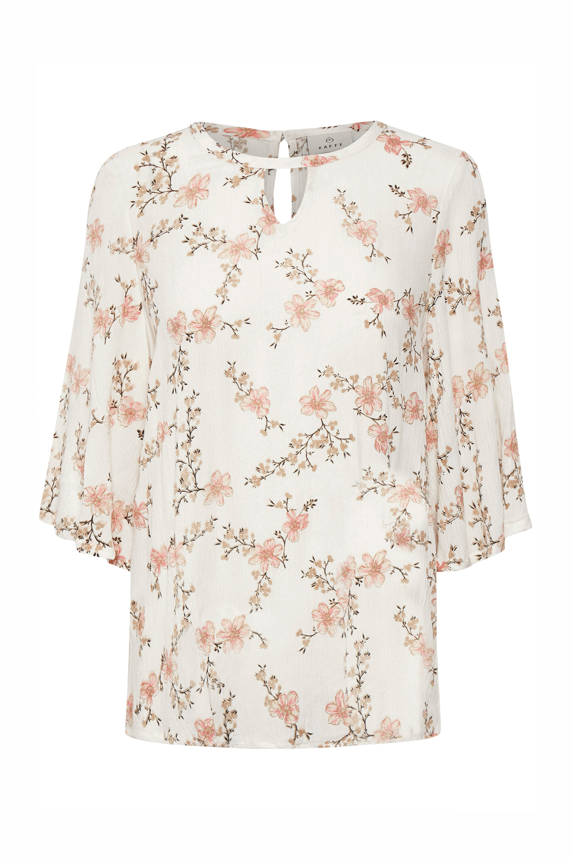 Image of Kaffe Dame Bluse - Off-white/rosa