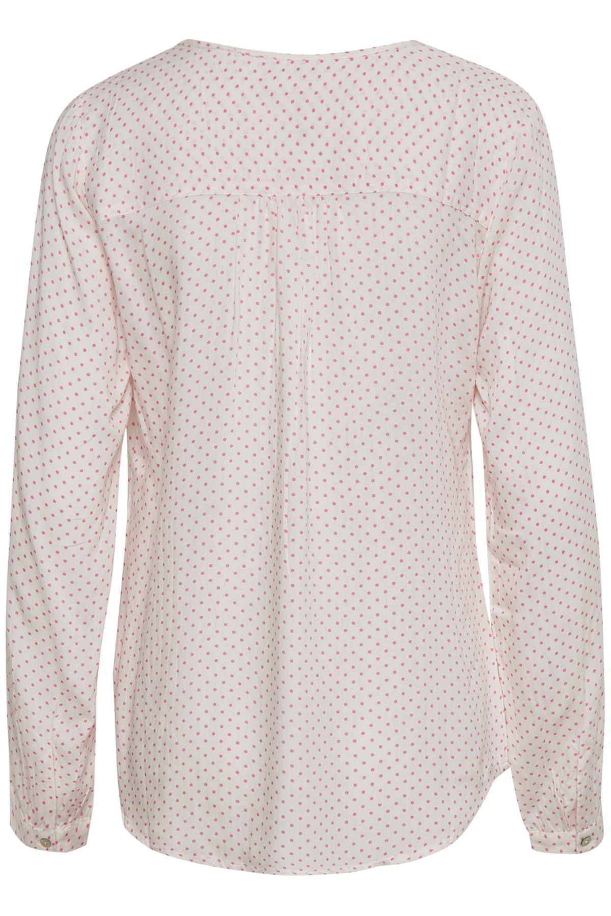 Off-white/roze Blouse met lange mouwen van Kaffe – Door Off-white/roze Blouse met lange mouwen van maat. 34-46 hier