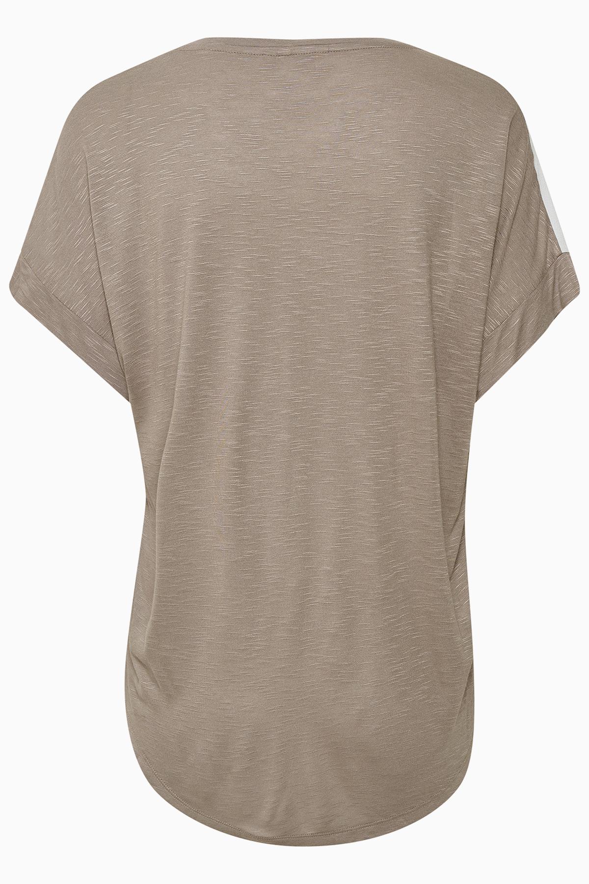 Off-white/sand Kortærmet bluse fra Bon'A Parte – Køb Off-white/sand Kortærmet bluse fra str. S-2XL her