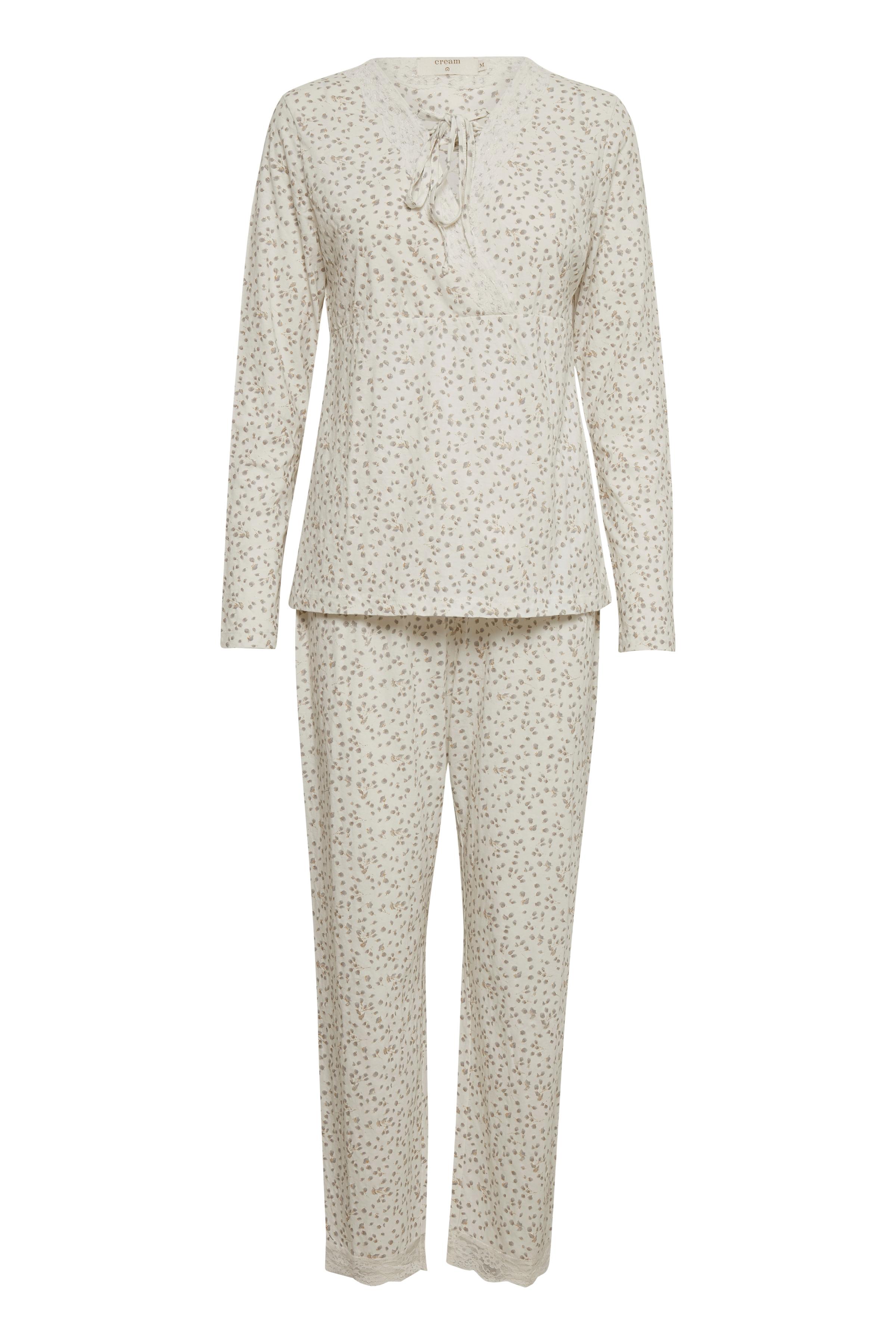 Off-white/sand Nattøj fra Cream Accessories – Køb Off-white/sand Nattøj fra str. XS/S-XL/XXL her