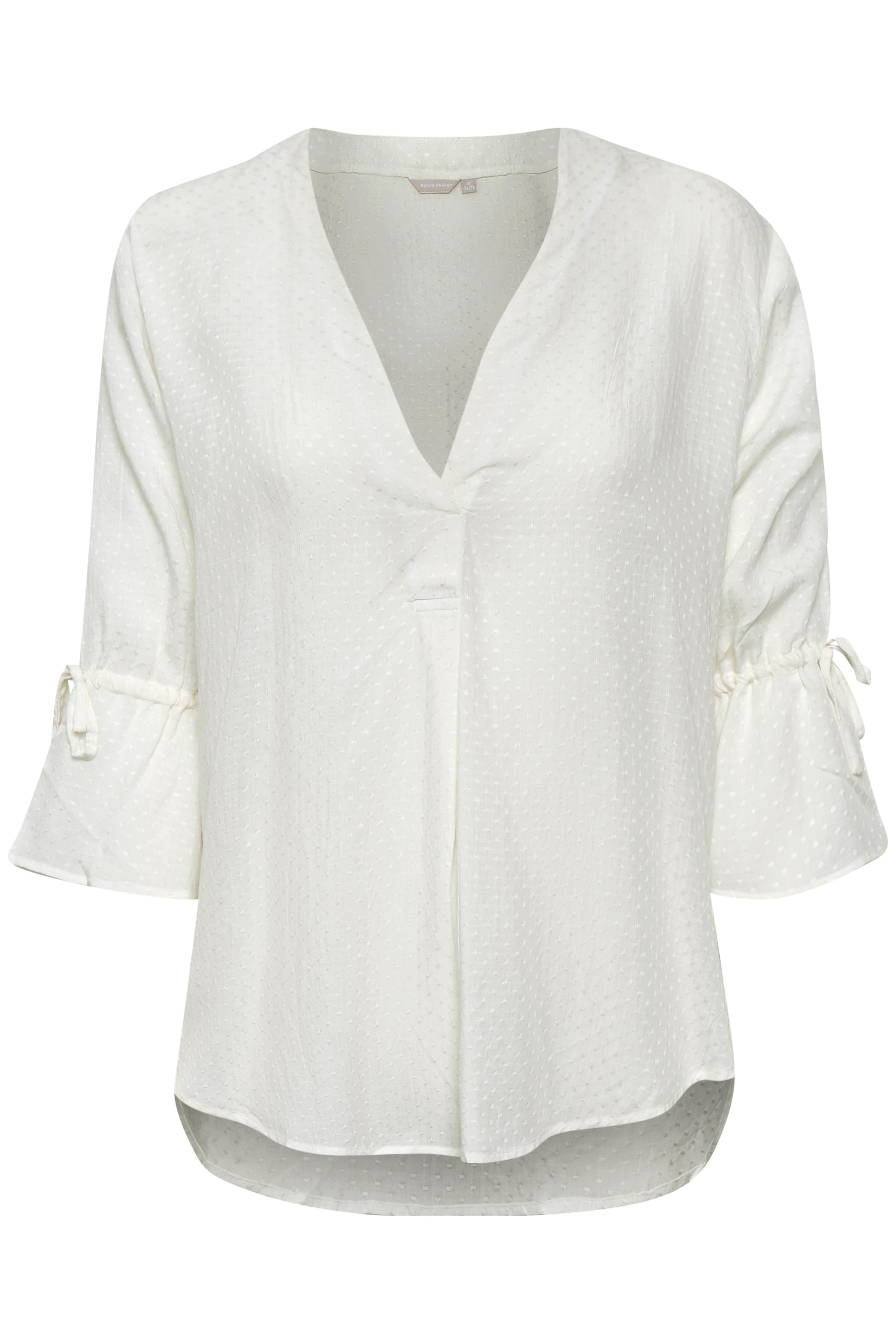 Off-white Shirt  van Bon'A Parte – Door Off-white Shirt  van maat. S-2XL hier