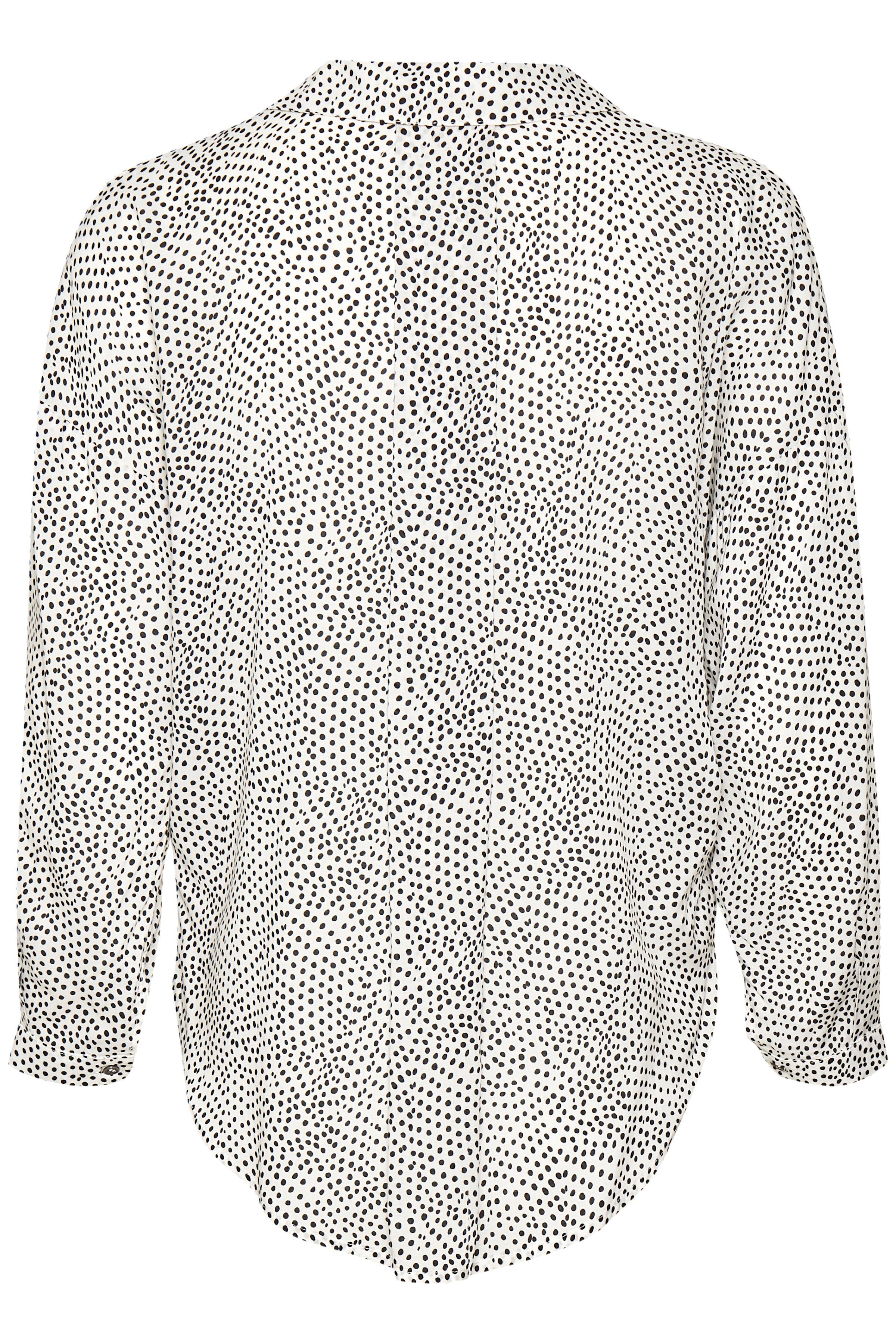 Off-white/sort Kortærmet bluse fra b.young – Køb Off-white/sort Kortærmet bluse fra str. 34-46 her
