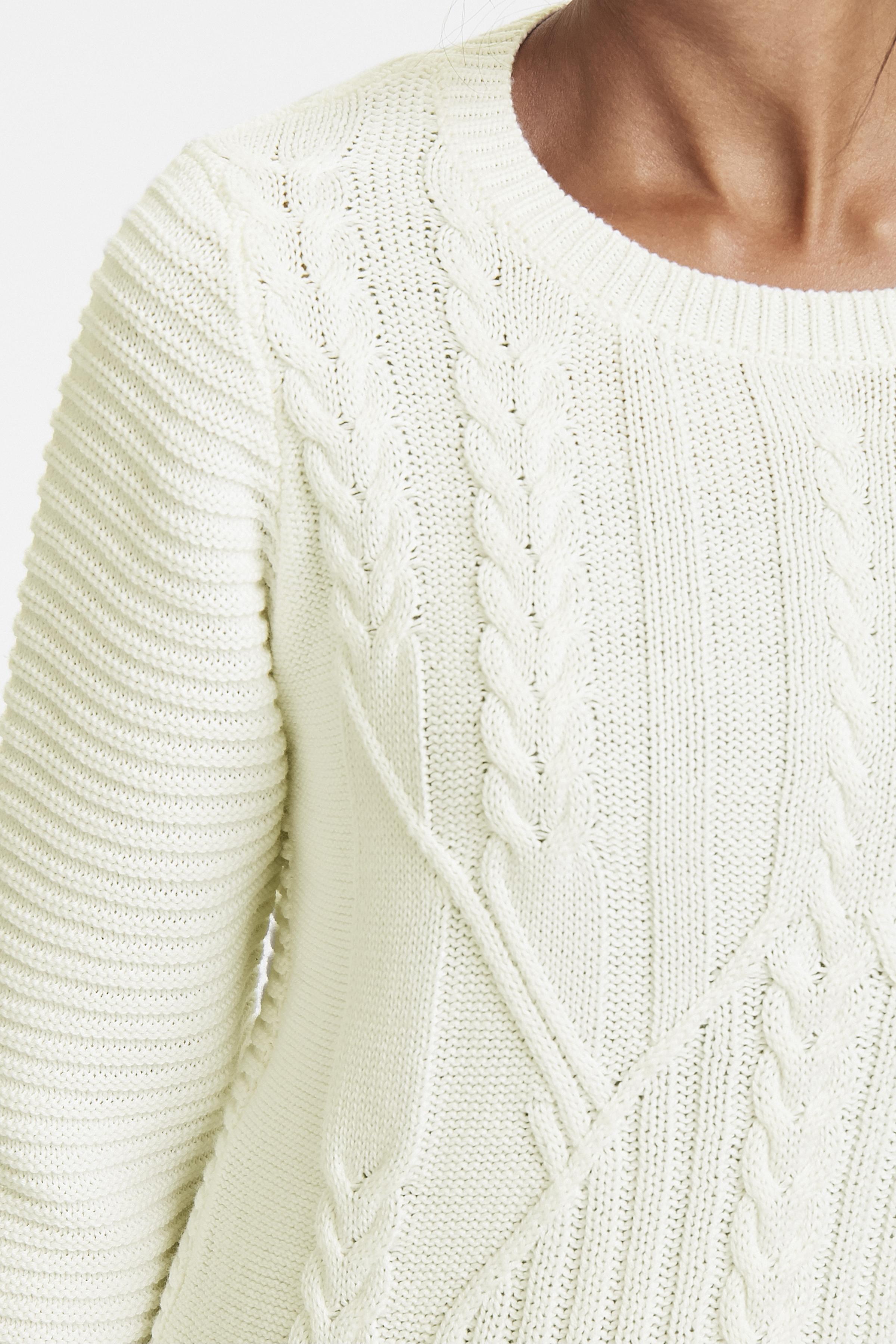 Off-white Strikpullover fra Bon'A Parte – Køb Off-white Strikpullover fra str. S-2XL her