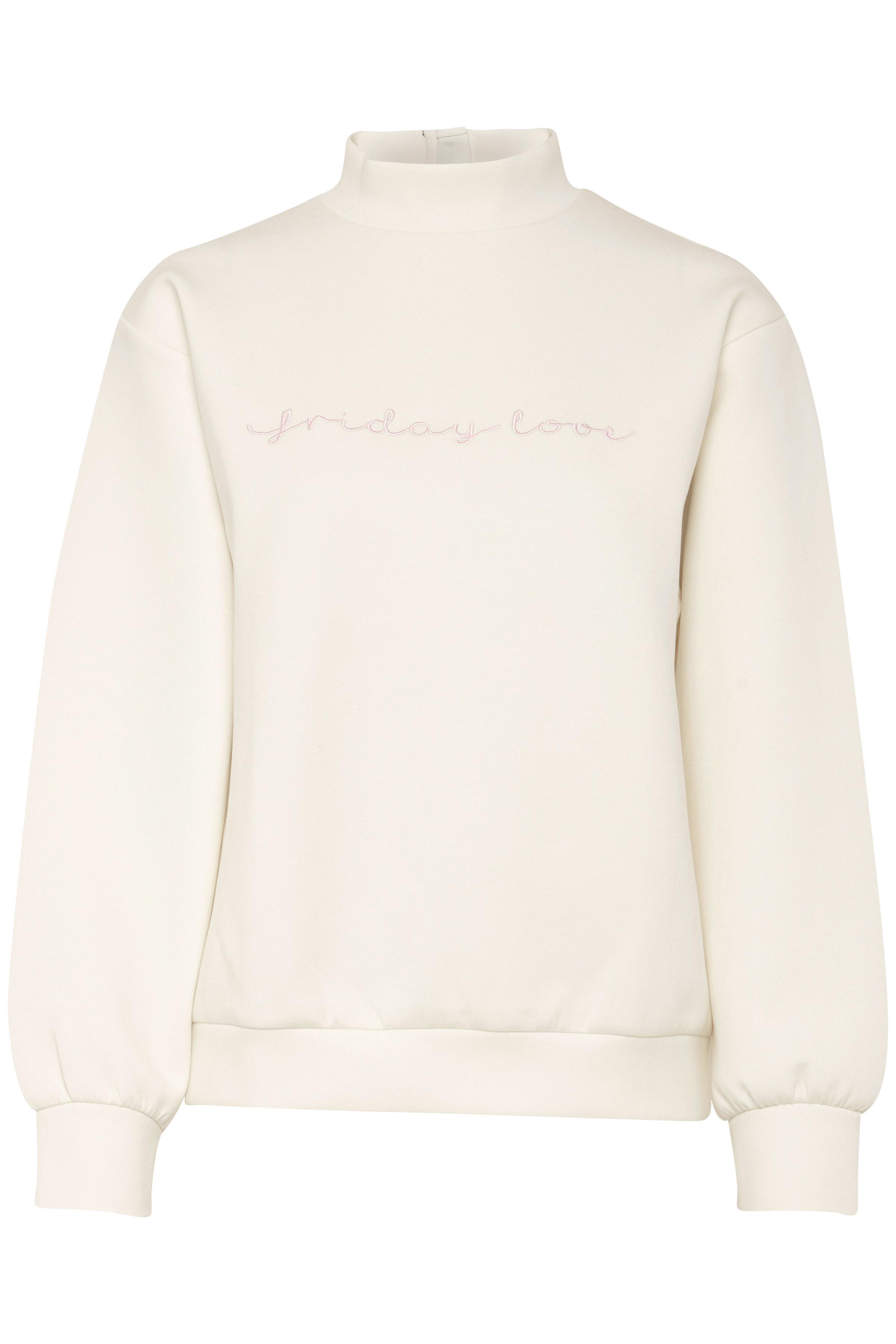 Off-white Sweatshirt fra b.young – Køb Off-white Sweatshirt fra str. XS-XXL her