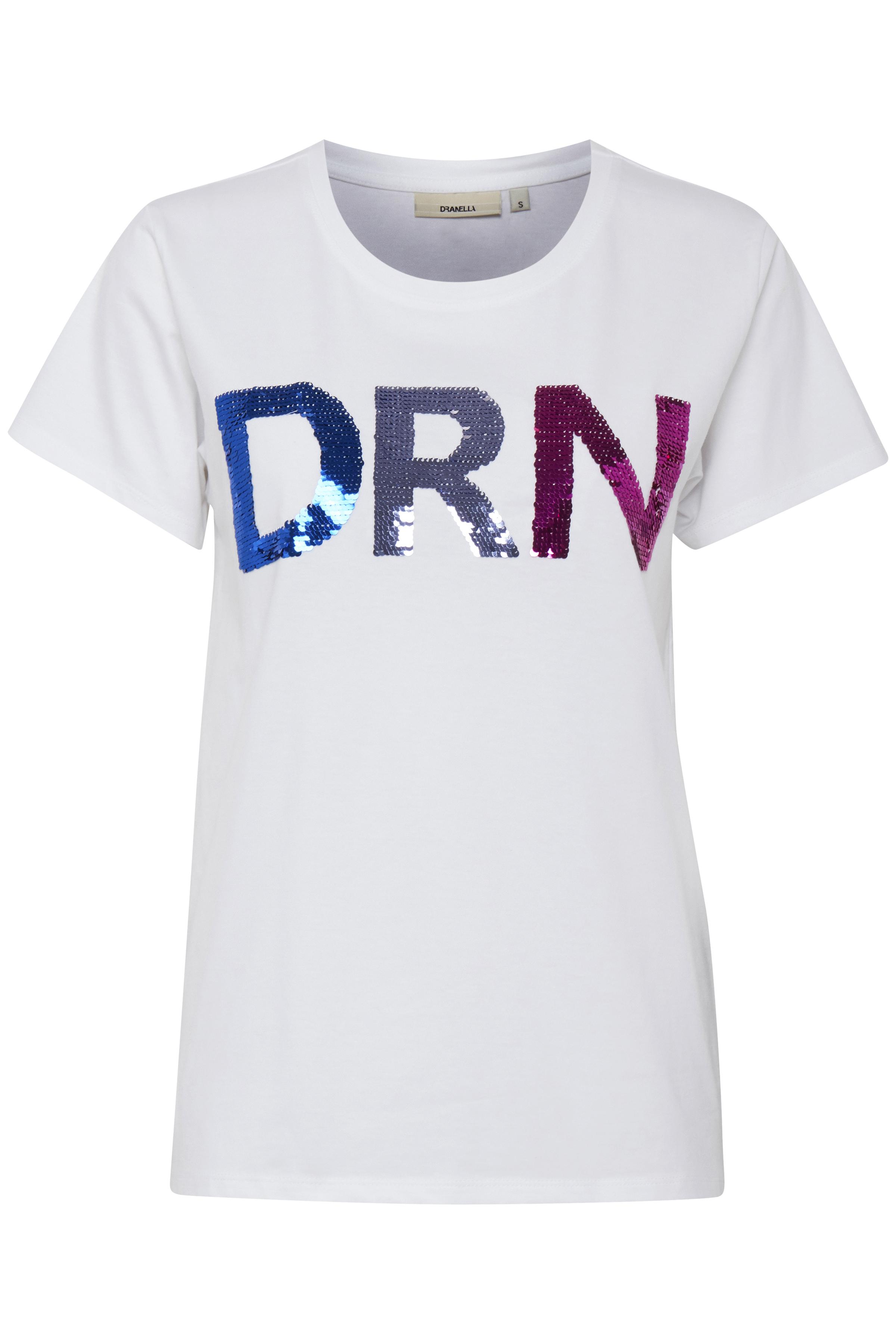 Off-white T-shirt korte mouw van Dranella – Door Off-white T-shirt korte mouw van maat. XS-XXL hier