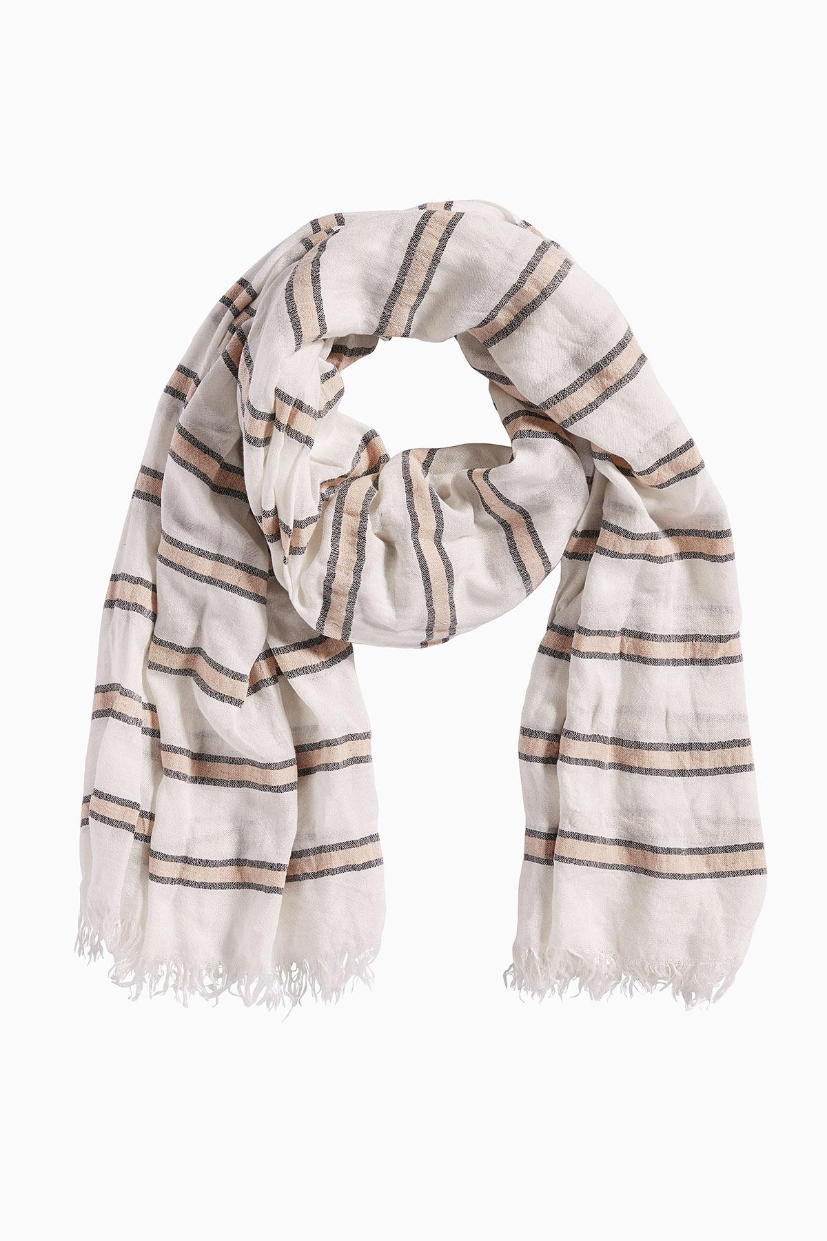 Off-white Tørklæde fra Bon'A Parte – Køb Off-white Tørklæde fra str. ONE her
