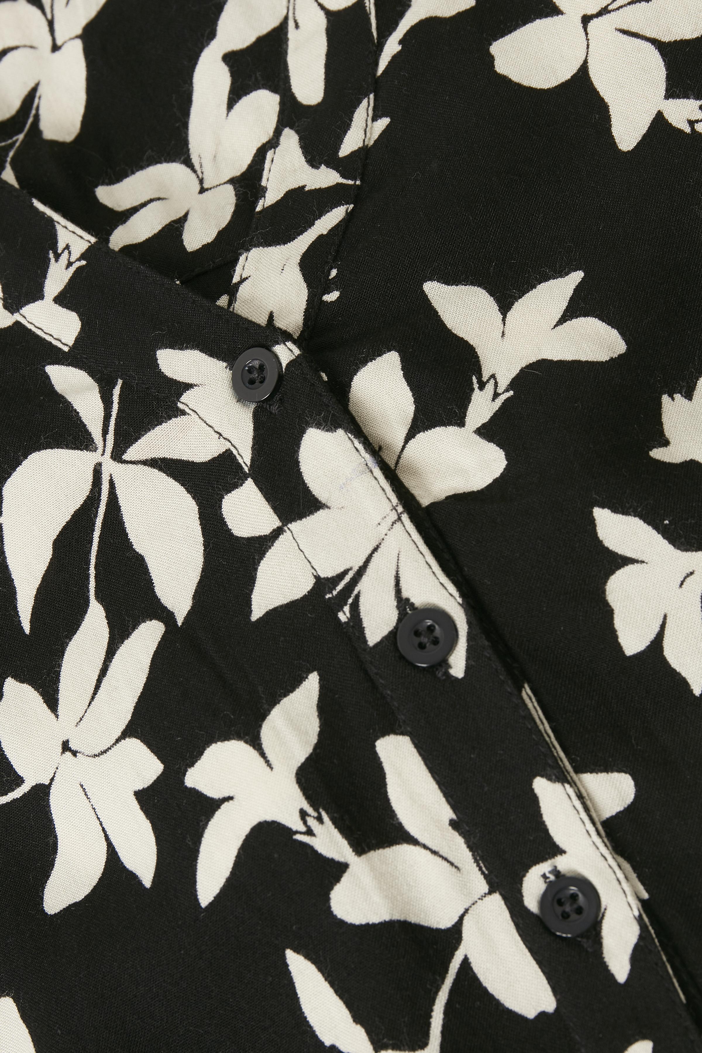Off-white/zwart Jurk van Bon'A Parte – Door Off-white/zwart Jurk van maat. S-2XL hier