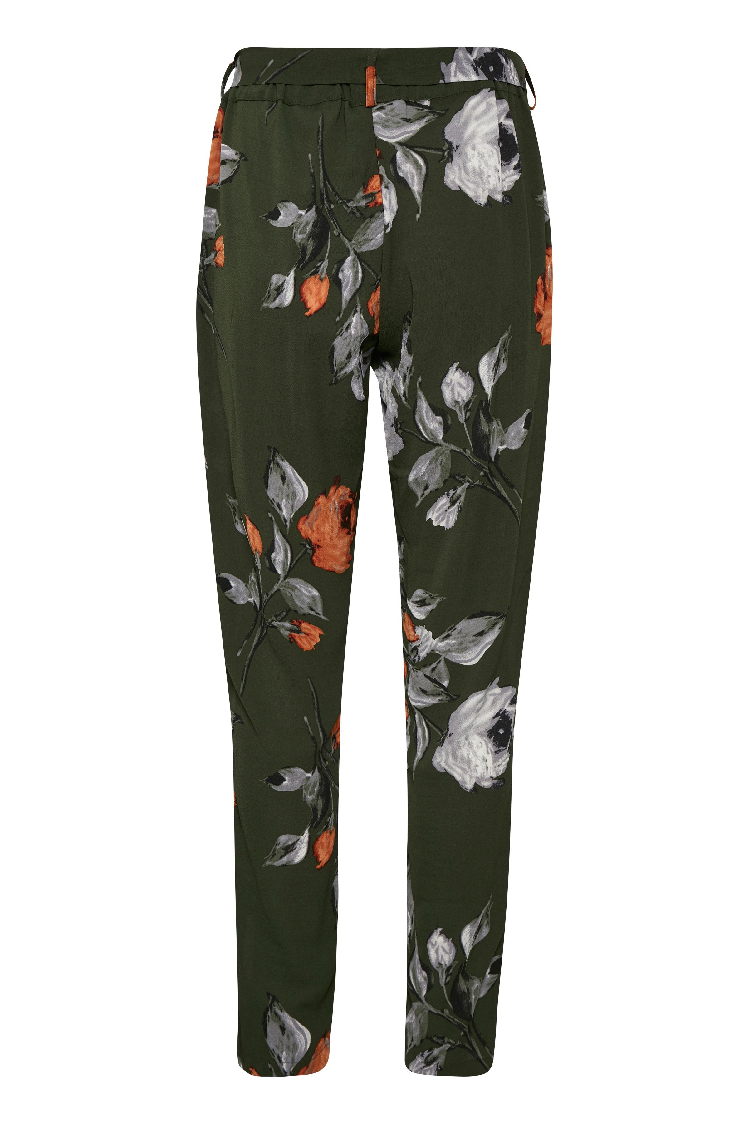 Olivengrøn/grå Casual bukser fra Kaffe – Køb Olivengrøn/grå Casual bukser fra str. 34-46 her