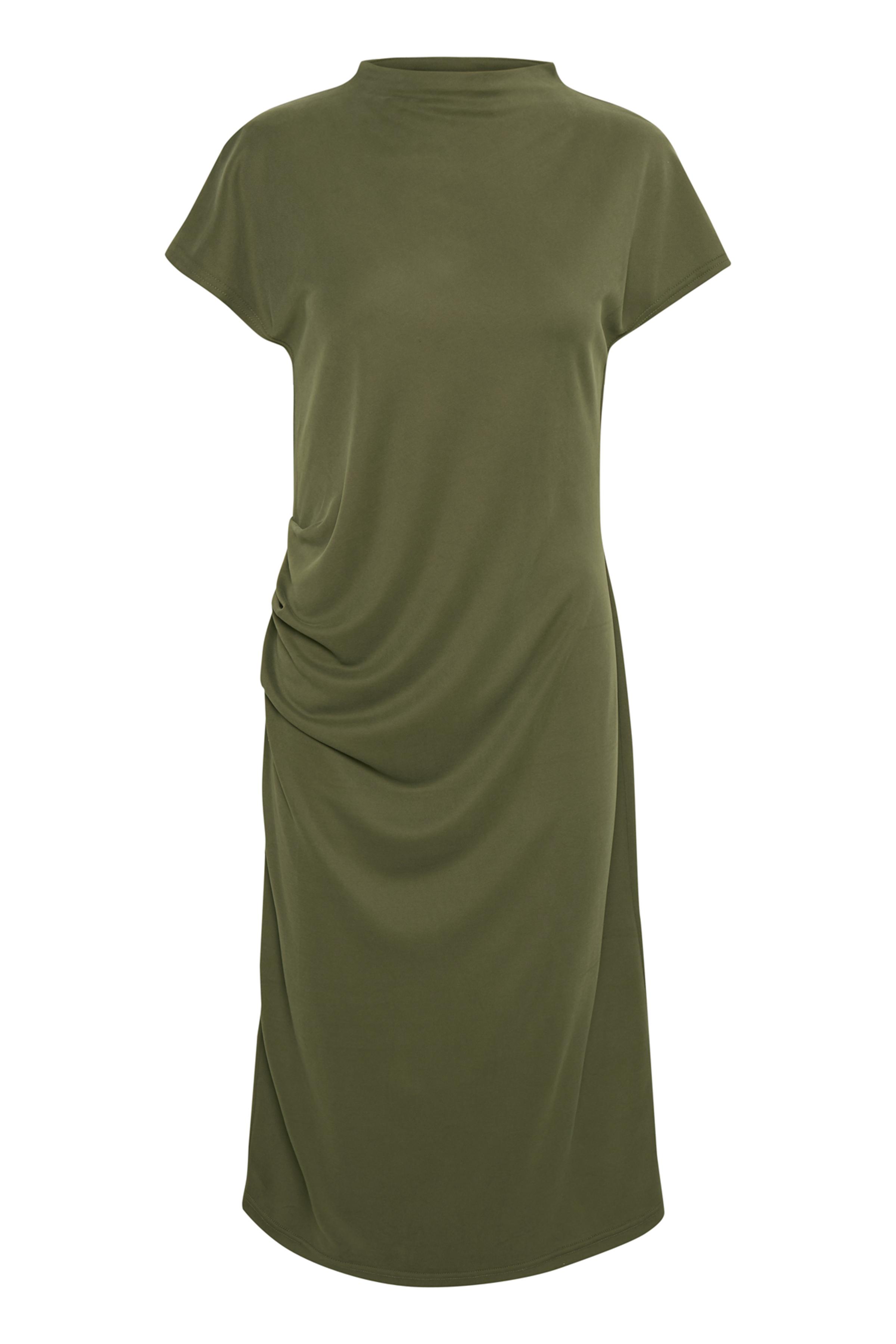 Culture Dame Blød kjole - Olivengrøn