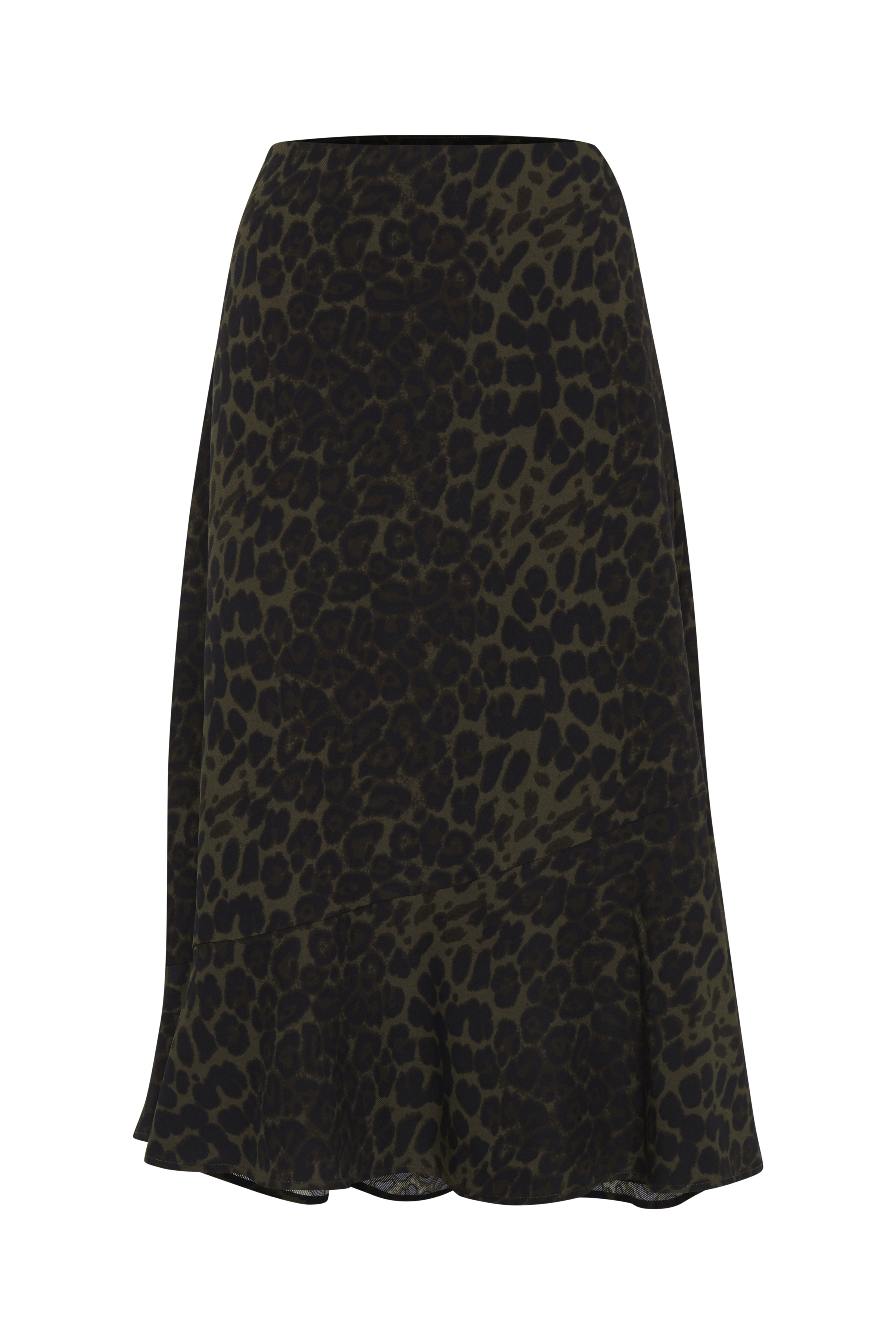 Olivengrøn/sort Nederdel fra b.young – Køb Olivengrøn/sort Nederdel fra str. 34-46 her