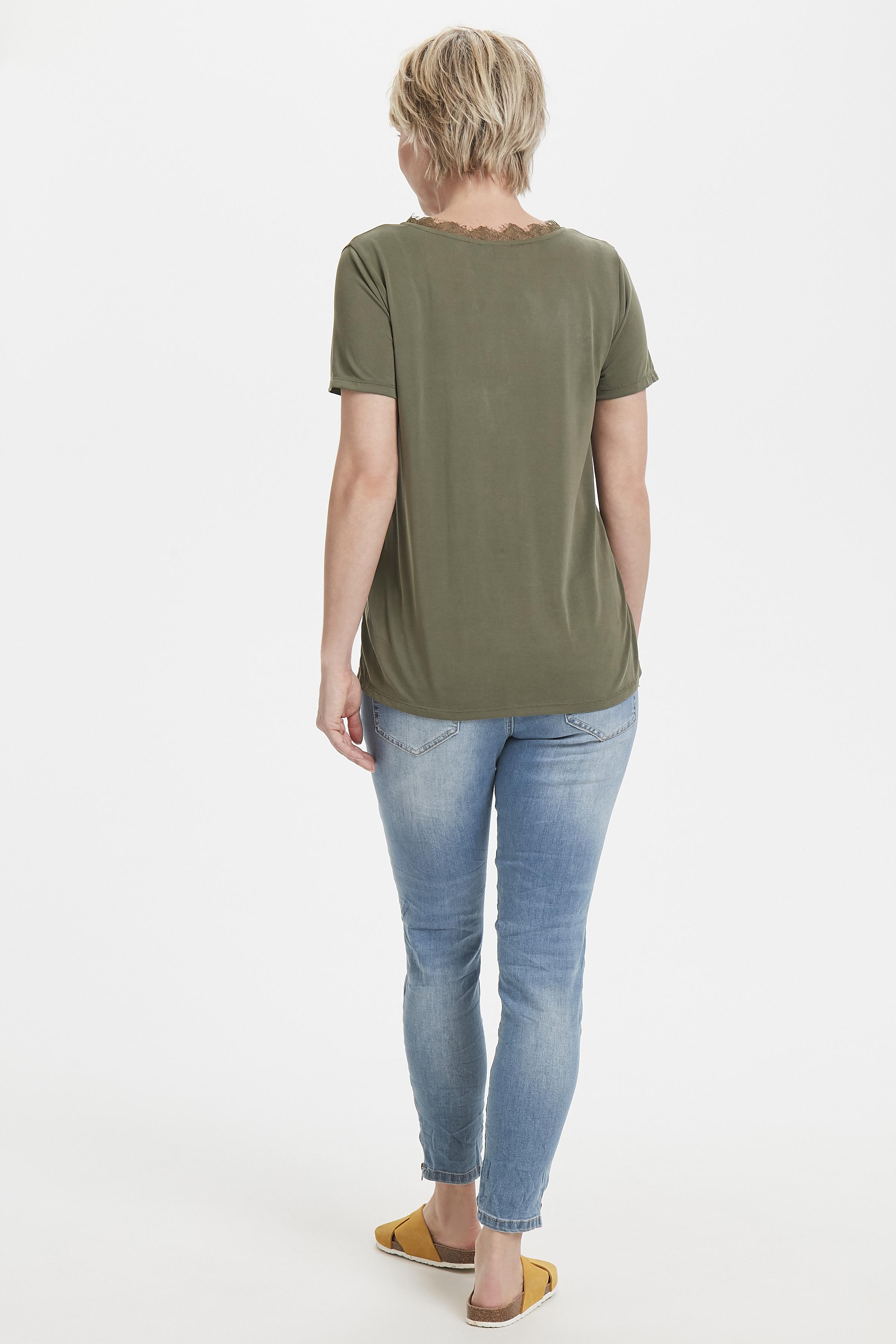 Olivgrön Kortärmad blus  från Fransa – Köp Olivgrön Kortärmad blus  från stl. XS-XXL här