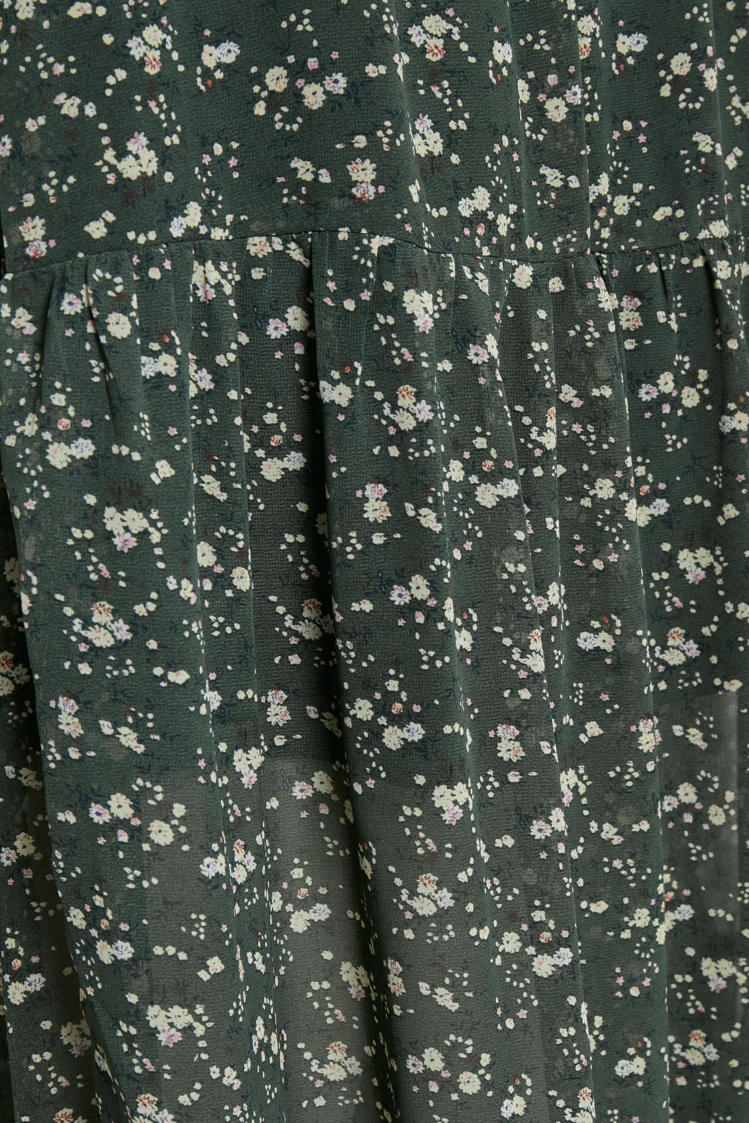Olivgrön/off-white Kjol från Kaffe – Köp Olivgrön/off-white Kjol från stl. 34-46 här
