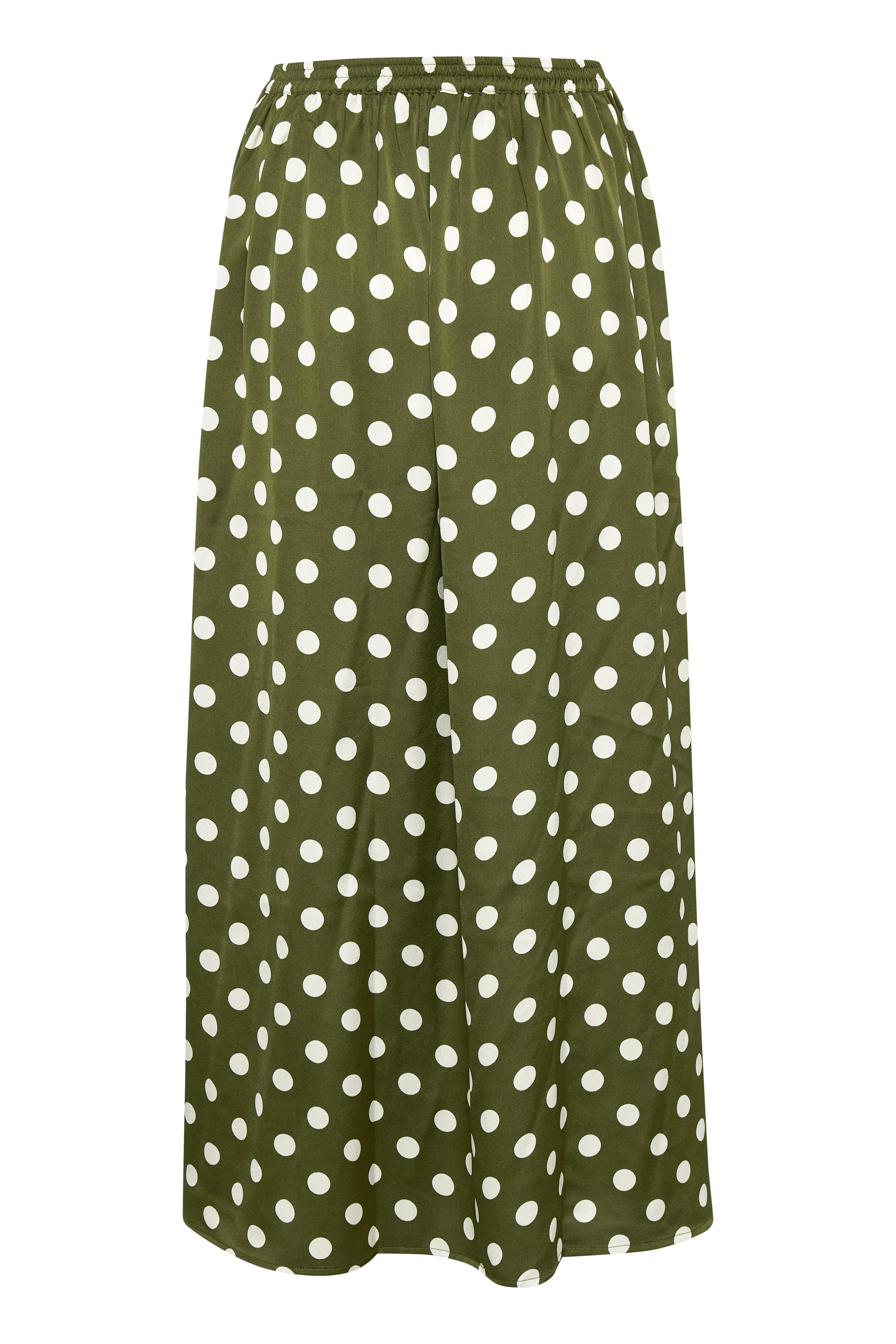 Olivgrön/vit Kjol från Culture – Köp Olivgrön/vit Kjol från stl. XS-XXL här
