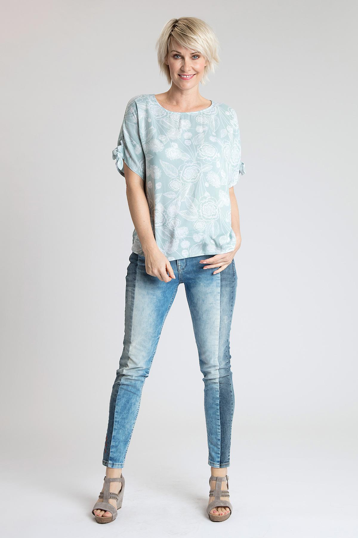 Opaalgroen/off-white