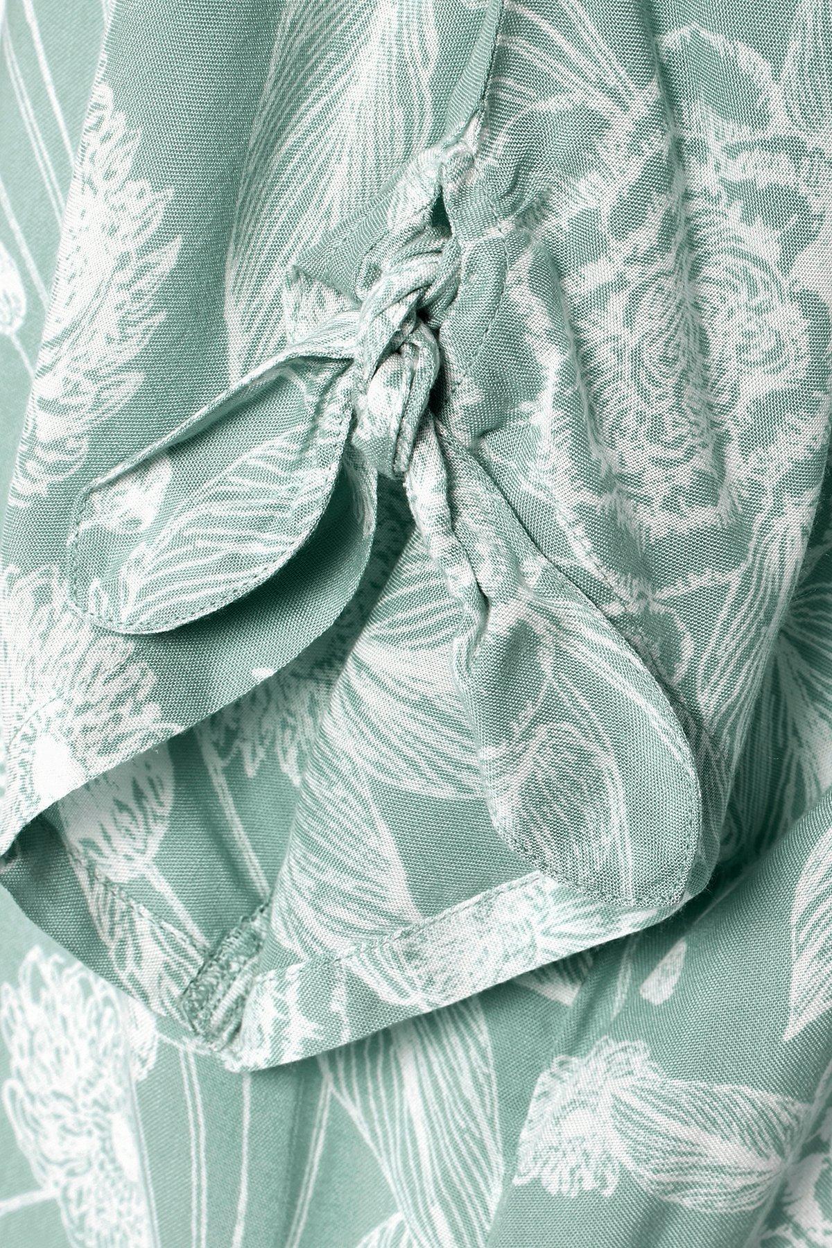Opalgrøn/off-white Kortærmet bluse fra Bon'A Parte – Køb Opalgrøn/off-white Kortærmet bluse fra str. S-2XL her