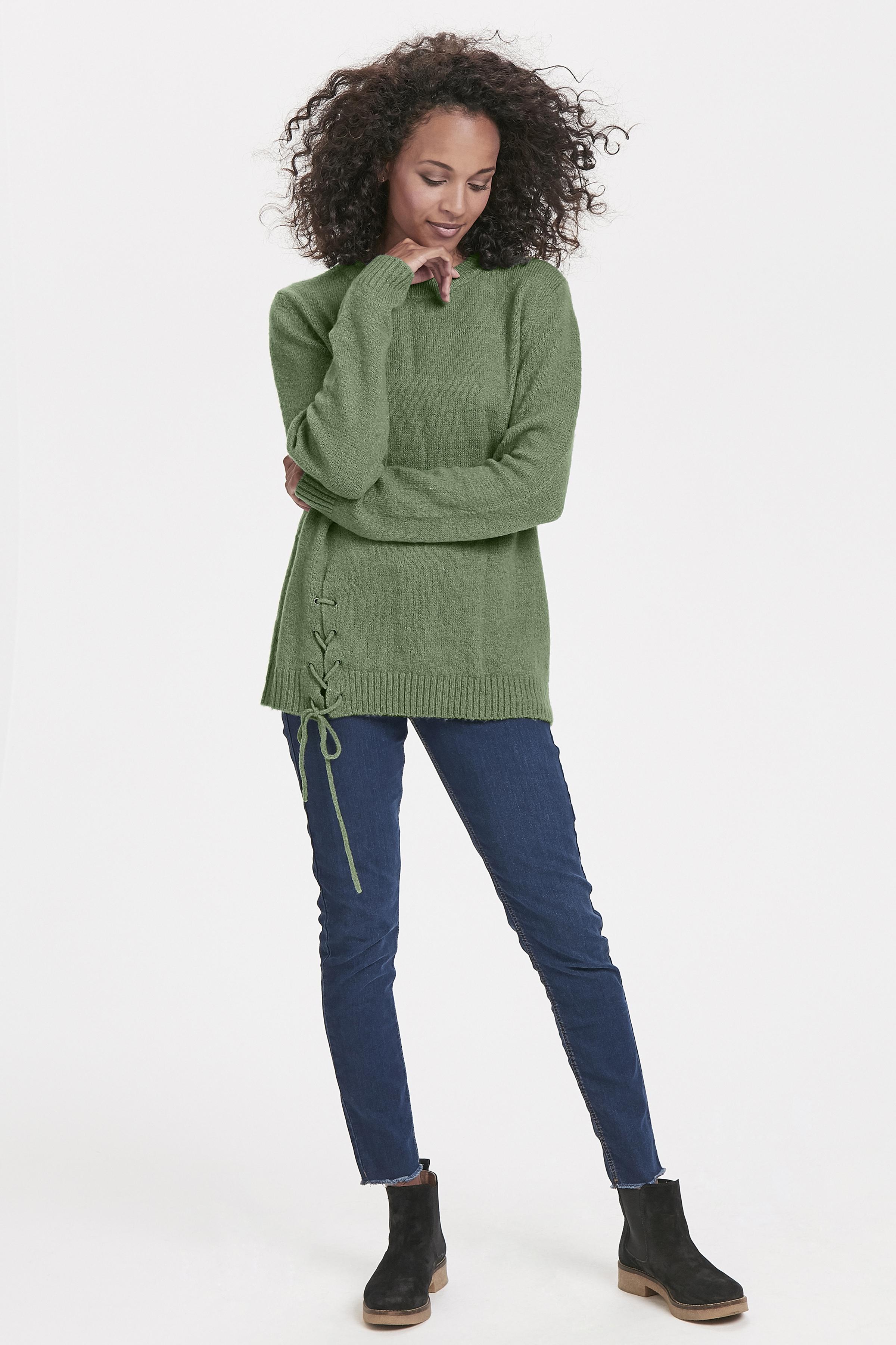 Opalgrön Stickad tröja från Bon'A Parte – Köp Opalgrön Stickad tröja från stl. S-2XL här