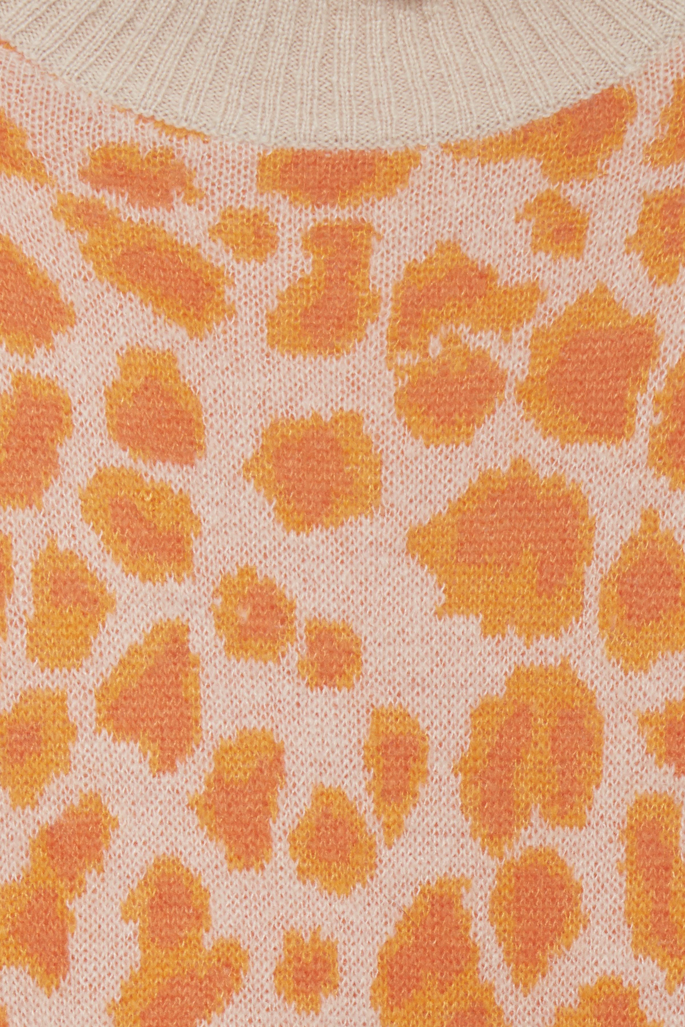 Orange/lys sand Strikpullover fra b.young – Køb Orange/lys sand Strikpullover fra str. XS-XXL her