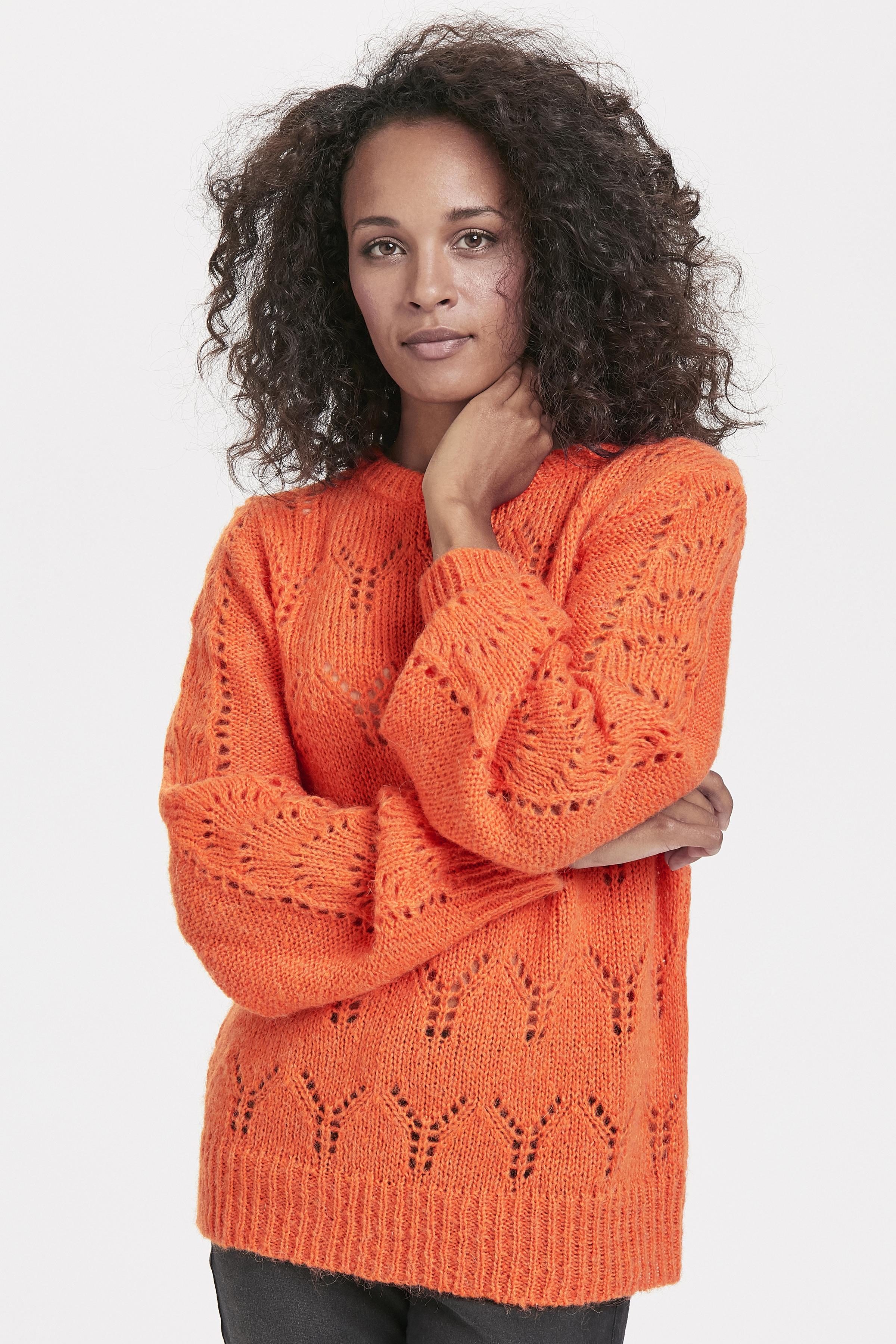Orange Strikpullover fra Pulz Jeans – Køb Orange Strikpullover fra str. XS-XXL her