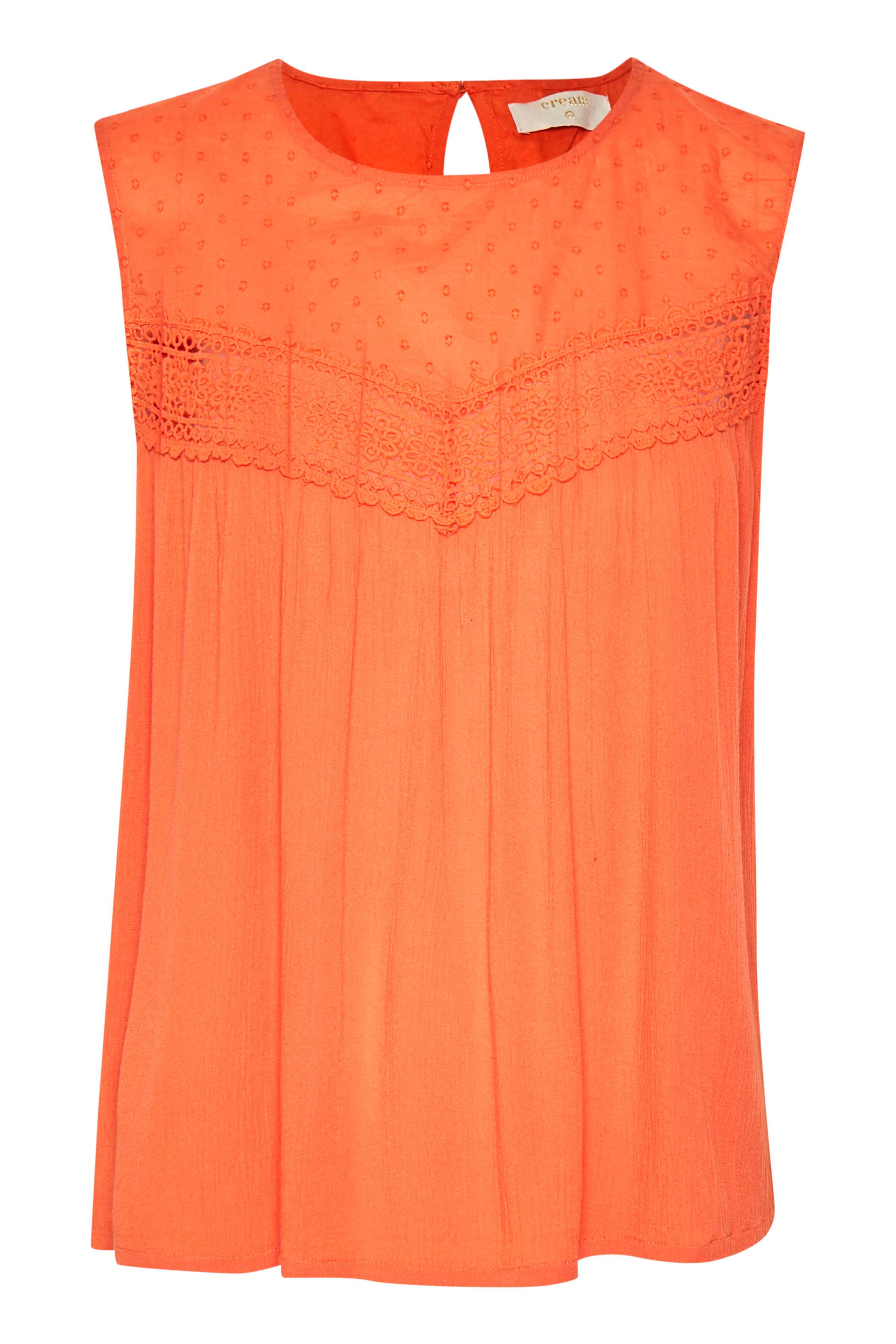 Cream Dame Top - Oranje