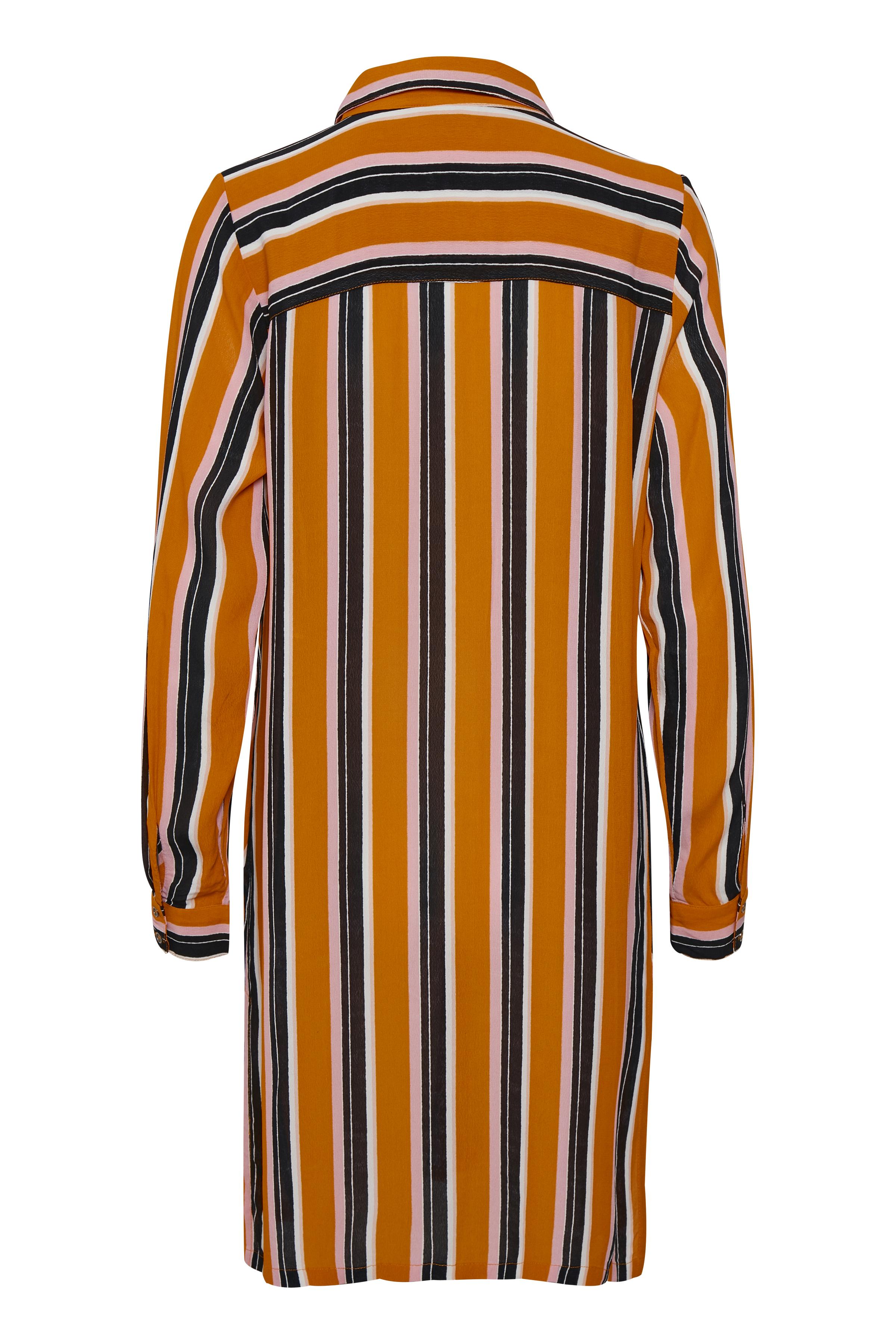 Oranje/zwart Blouse lange mouw van Kaffe – Door Oranje/zwart Blouse lange mouw van maat. 34-46 hier
