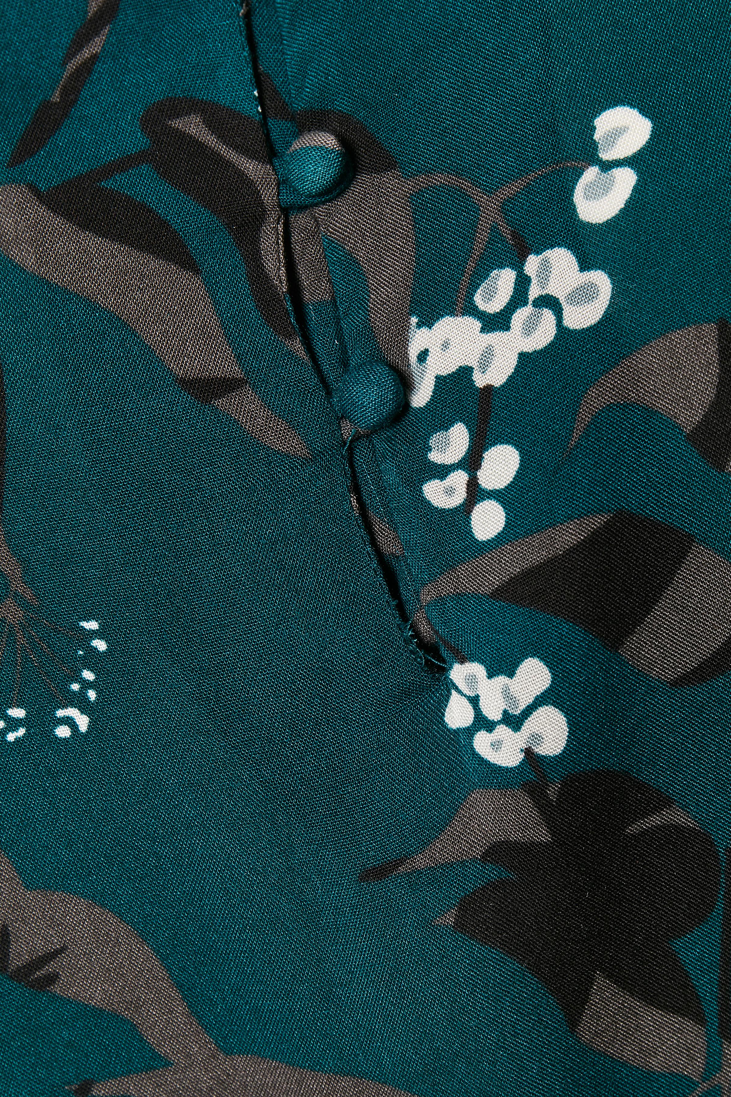 Petrol/sort Bluse fra Fransa – Køb Petrol/sort Bluse fra str. XS-XXL her