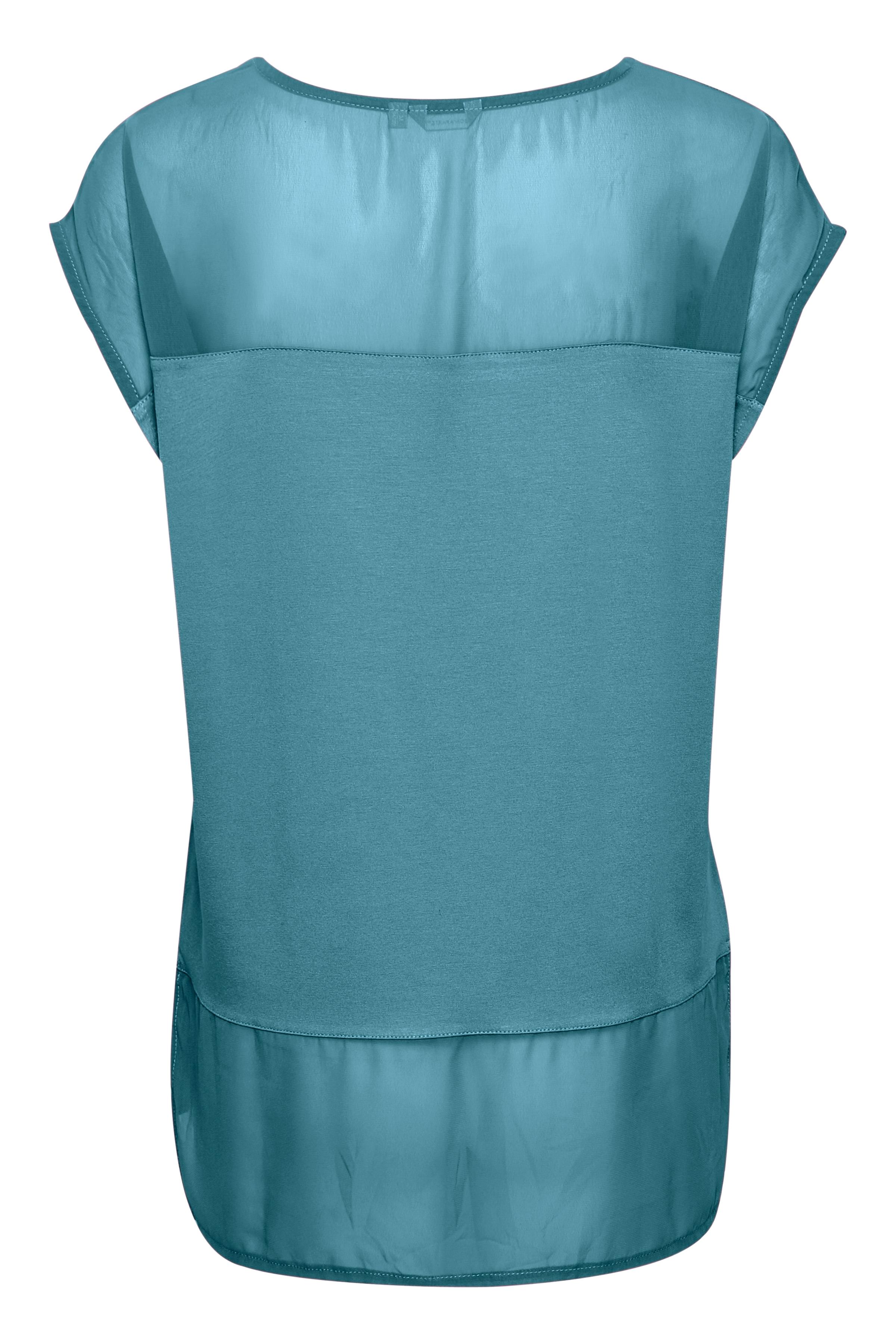 Petrolblau Kurzarm-Shirt von Bon'A Parte – Shoppen Sie Petrolblau Kurzarm-Shirt ab Gr. S-2XL hier