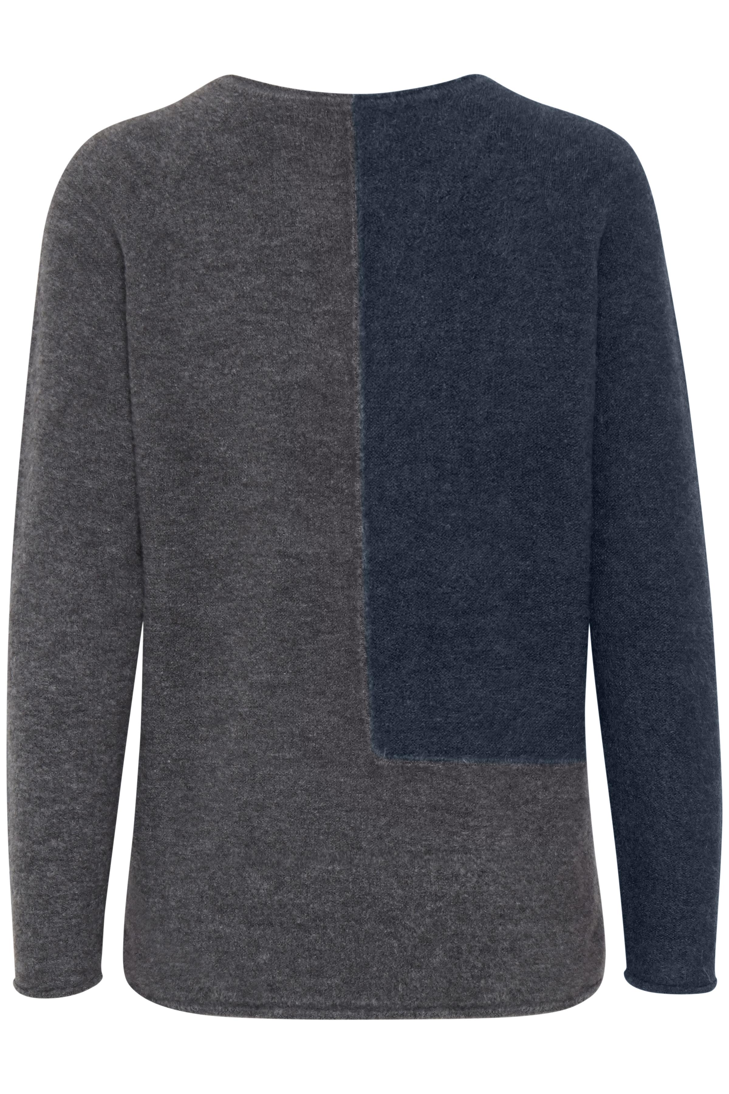 Petroleum/mörkgrå Stickad pullover från Fransa – Köp Petroleum/mörkgrå Stickad pullover från stl. XS-XXL här