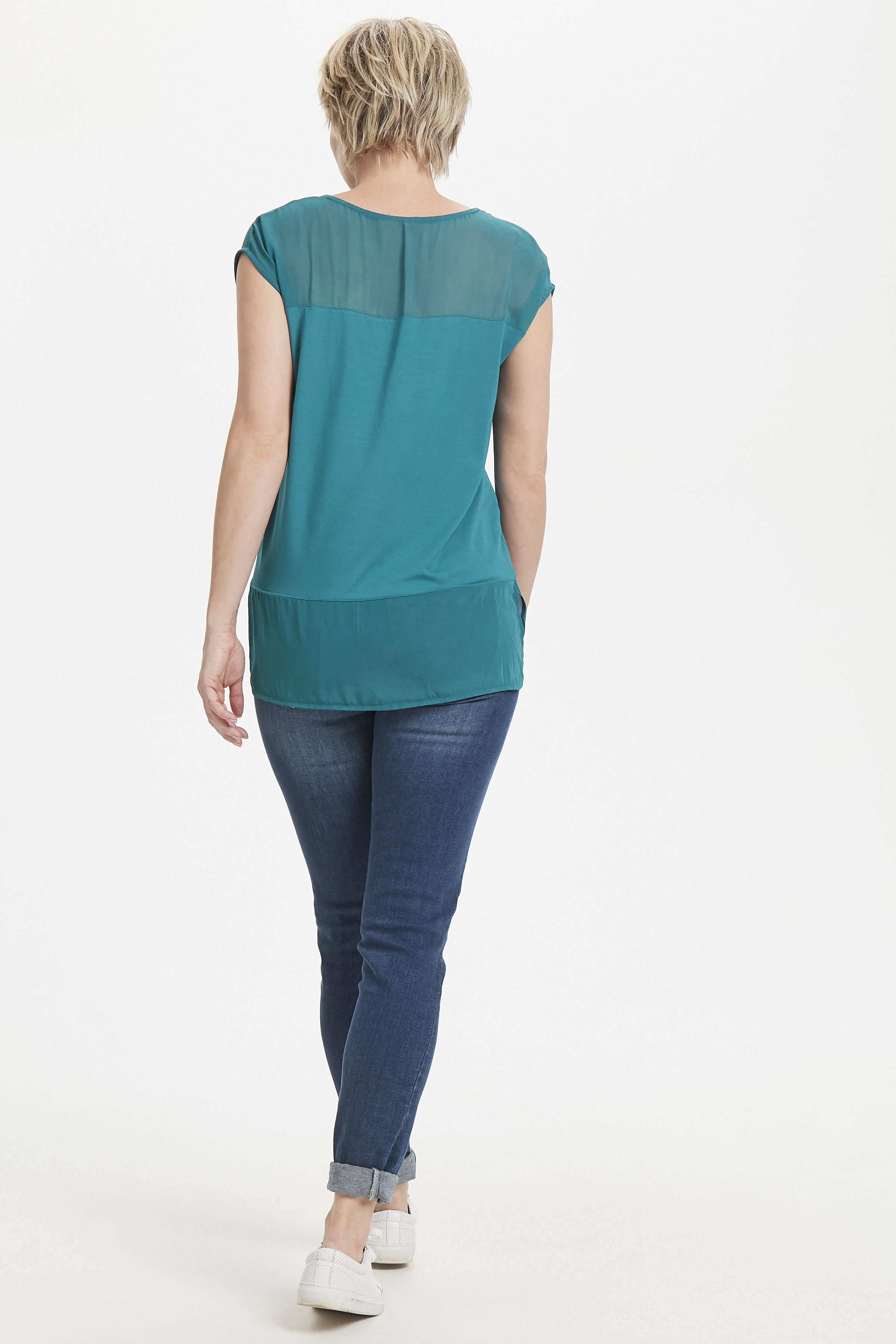 Petroleumblå Kortärmad T-shirt från Bon'A Parte – Köp Petroleumblå Kortärmad T-shirt från stl. S-2XL här