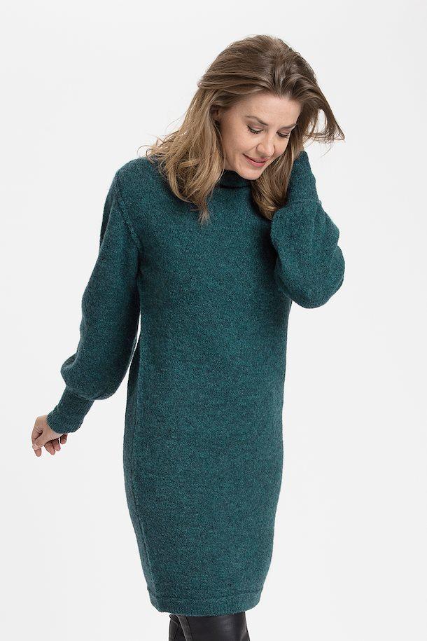 72c98a2ac5ea50 Petrolgemêleerd Gebreide jurk van Fransa – Door Petrolgemêleerd Gebreide  jurk van maat. XS-XXL hier