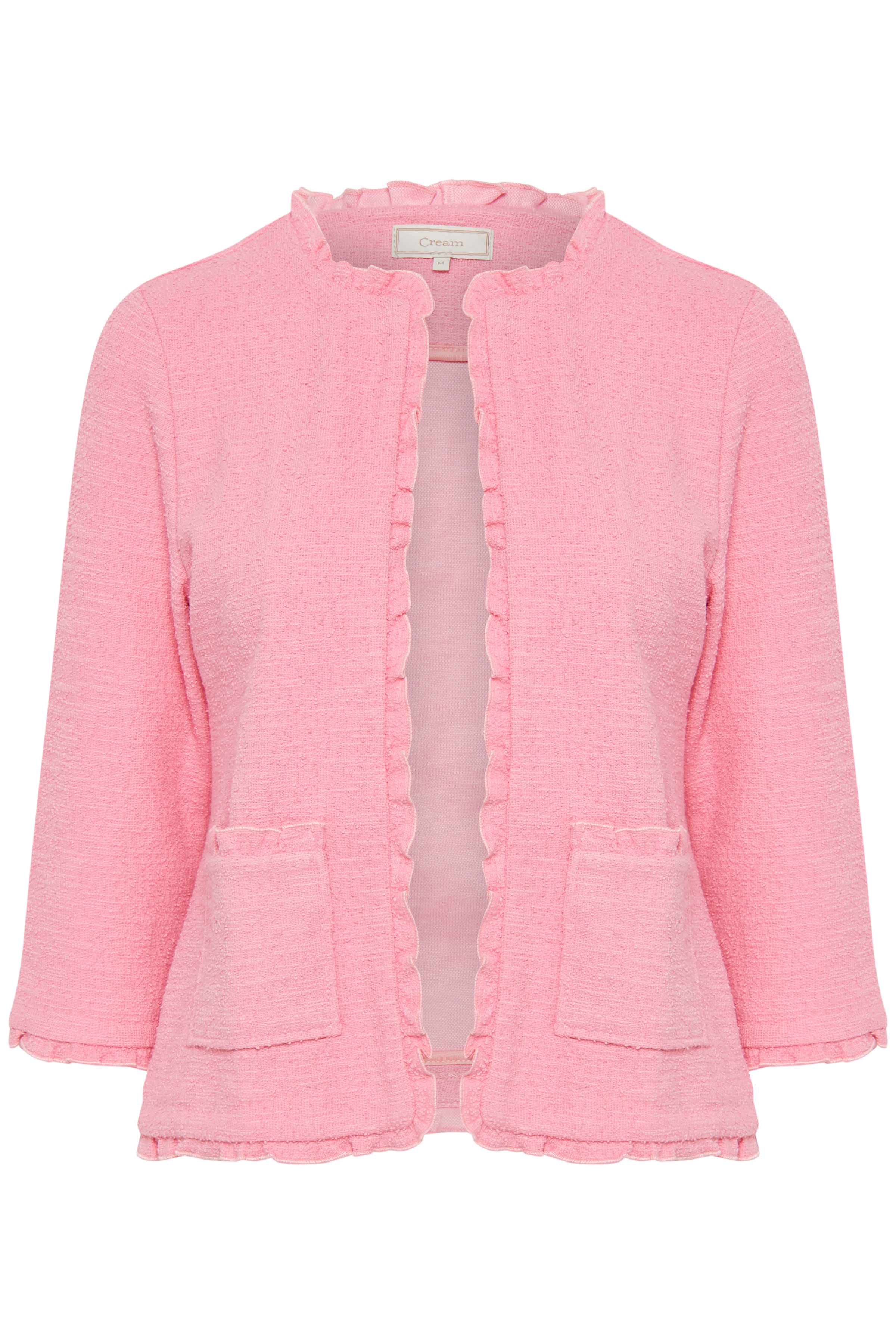 Image of Cream Dame Meget fin Nellie åbenstående cardigan - Pink