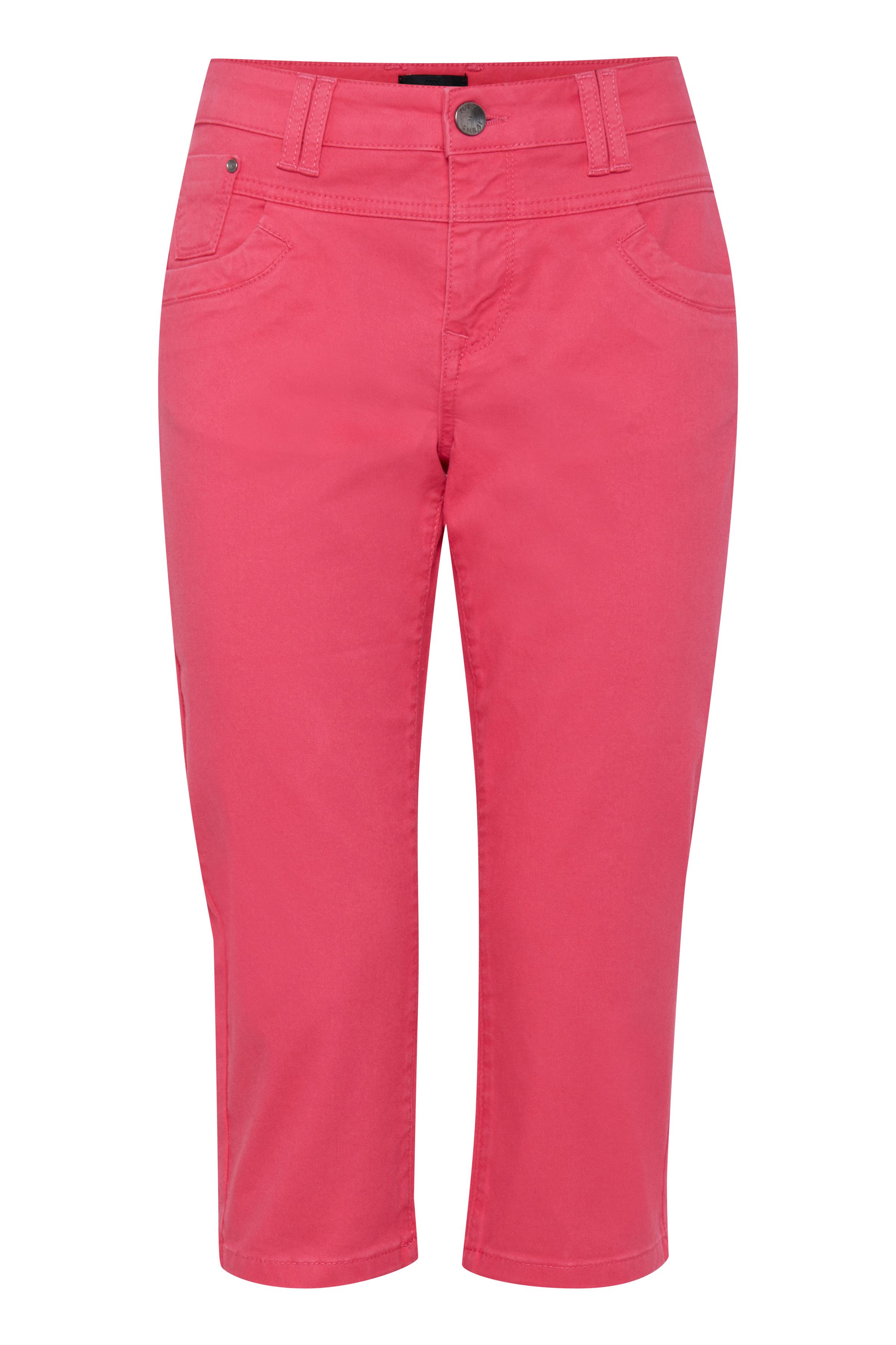 Image of Pulz Jeans Dame 5-lommet capri bukser - Pink