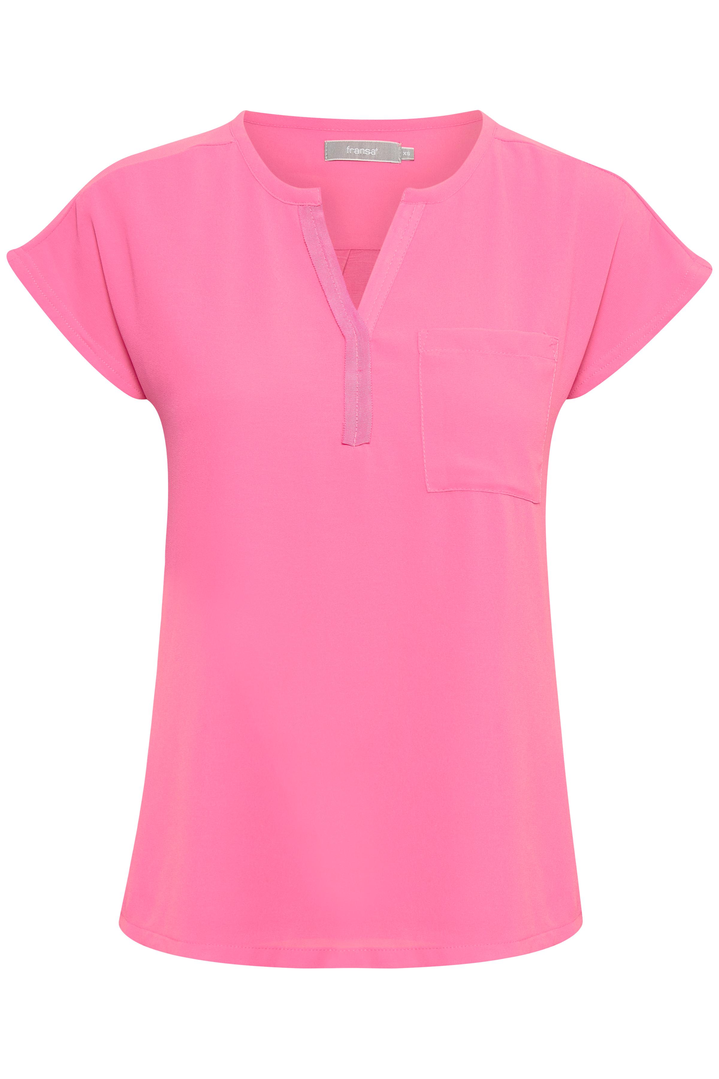Pink Kortærmet bluse fra Fransa – Køb Pink Kortærmet bluse fra str. XS-XXL her