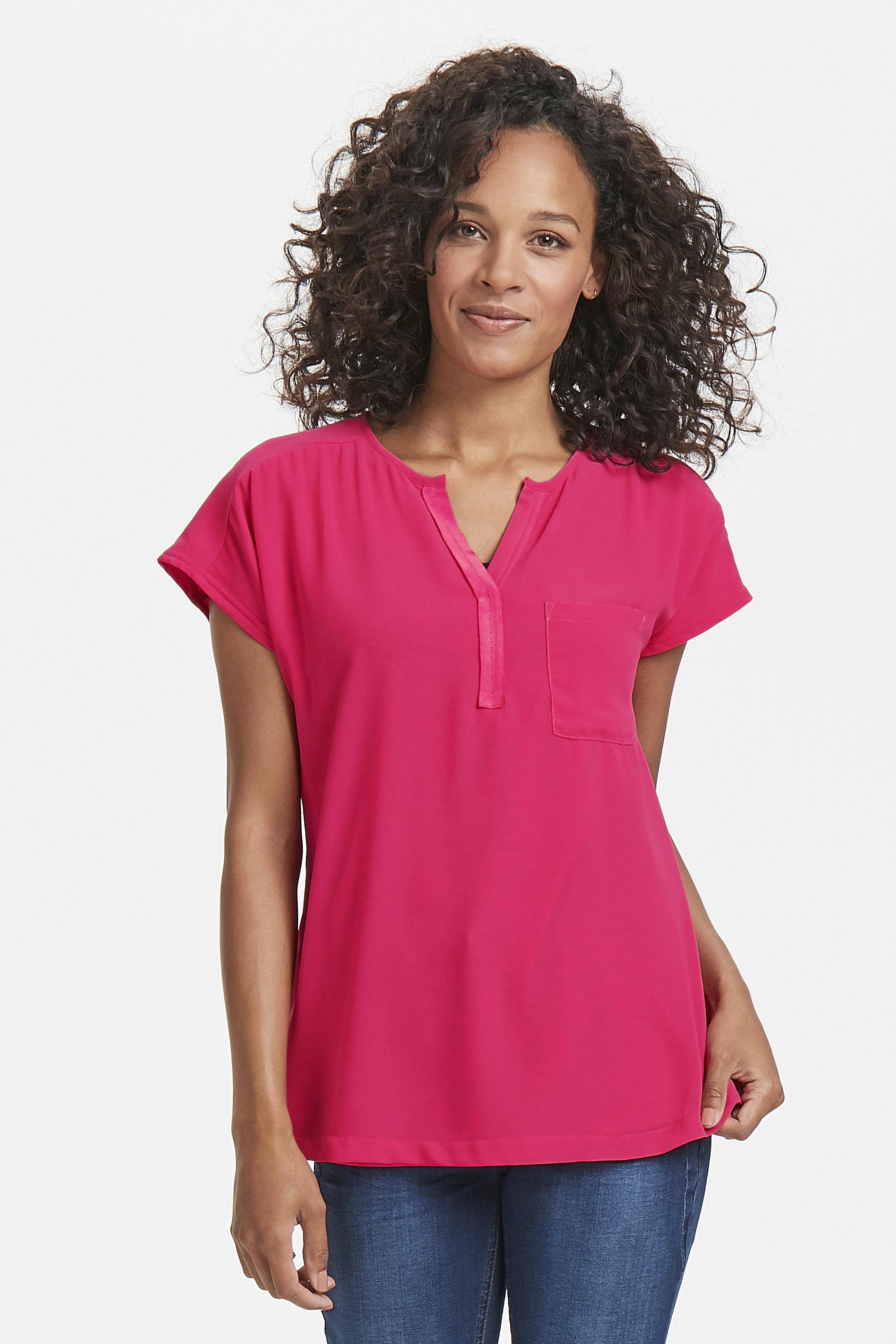 Pink Kurzarm-Bluse von Fransa – Shoppen Sie Pink Kurzarm-Bluse ab Gr. XS-XXL hier