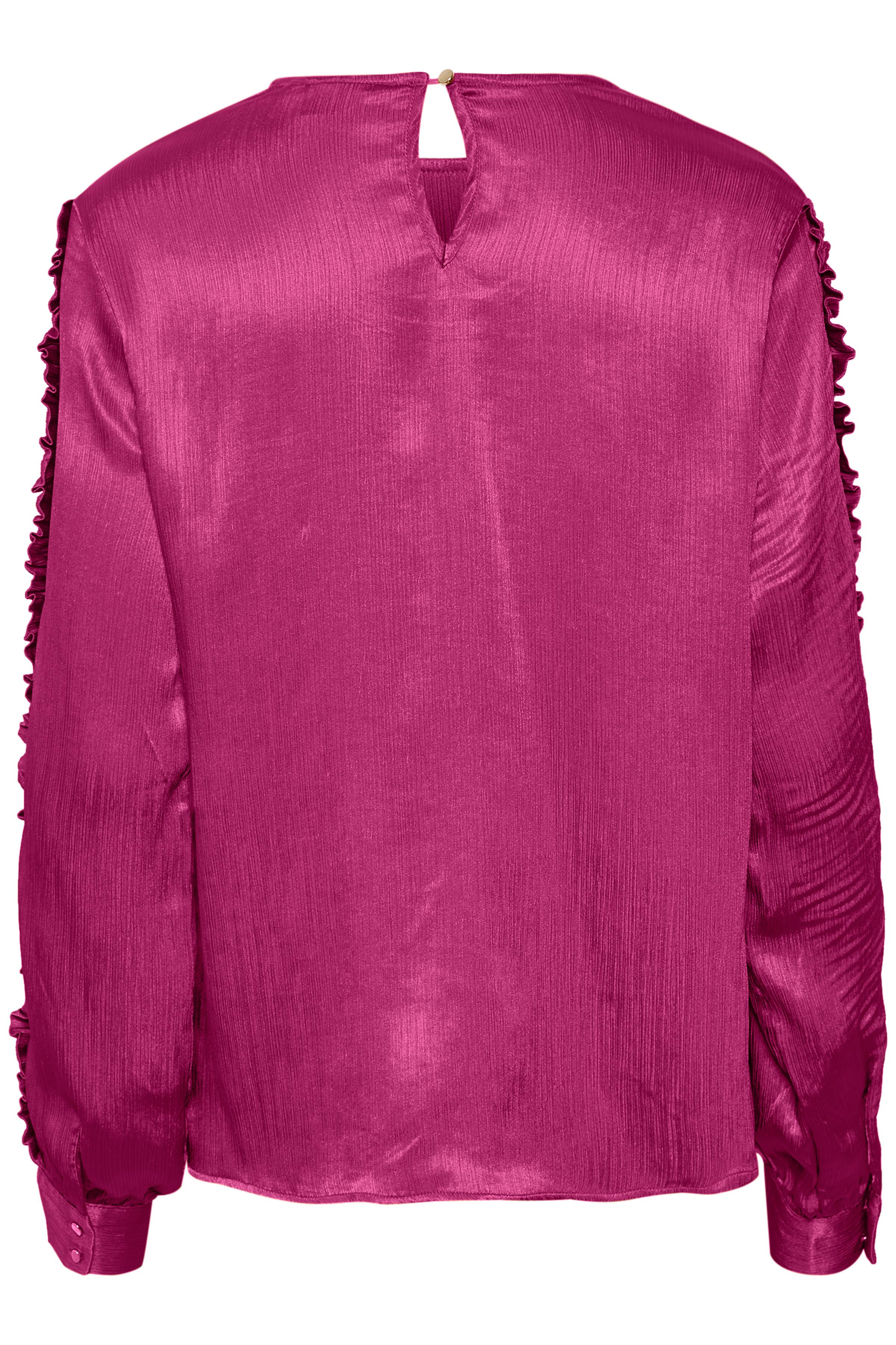 Pink Långärmad blus från Kaffe – Köp Pink Långärmad blus från stl. 34-46 här