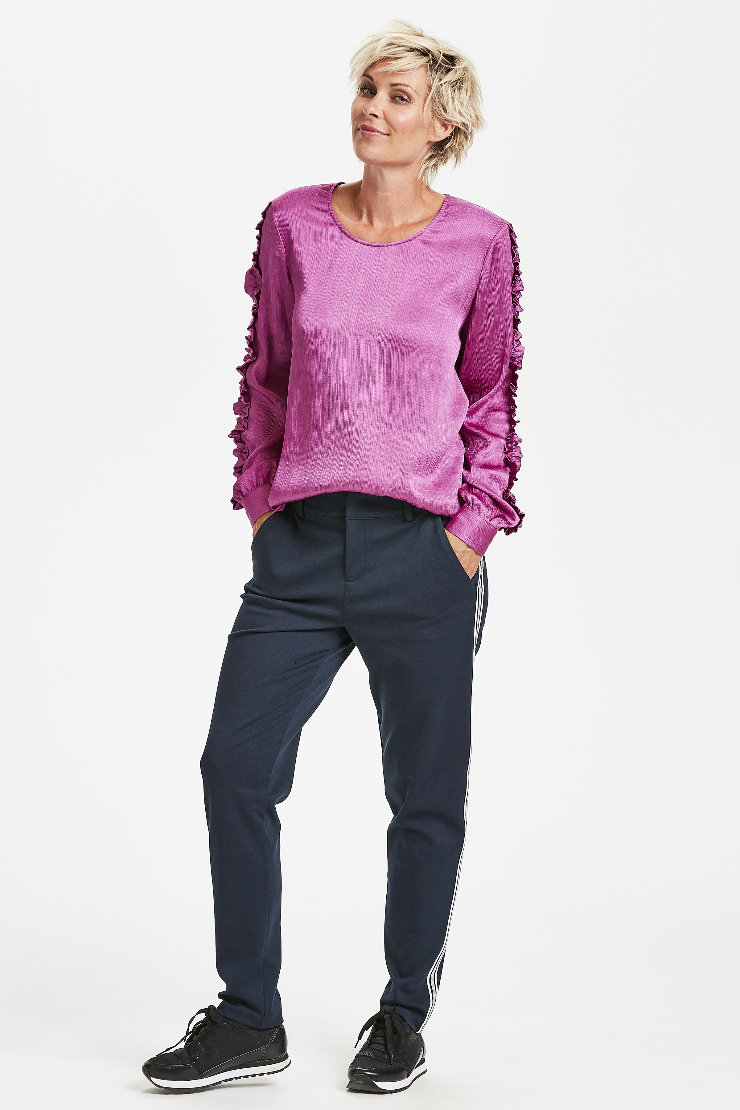 Pink Langærmet bluse fra Kaffe – Køb Pink Langærmet bluse fra str. 34-46 her