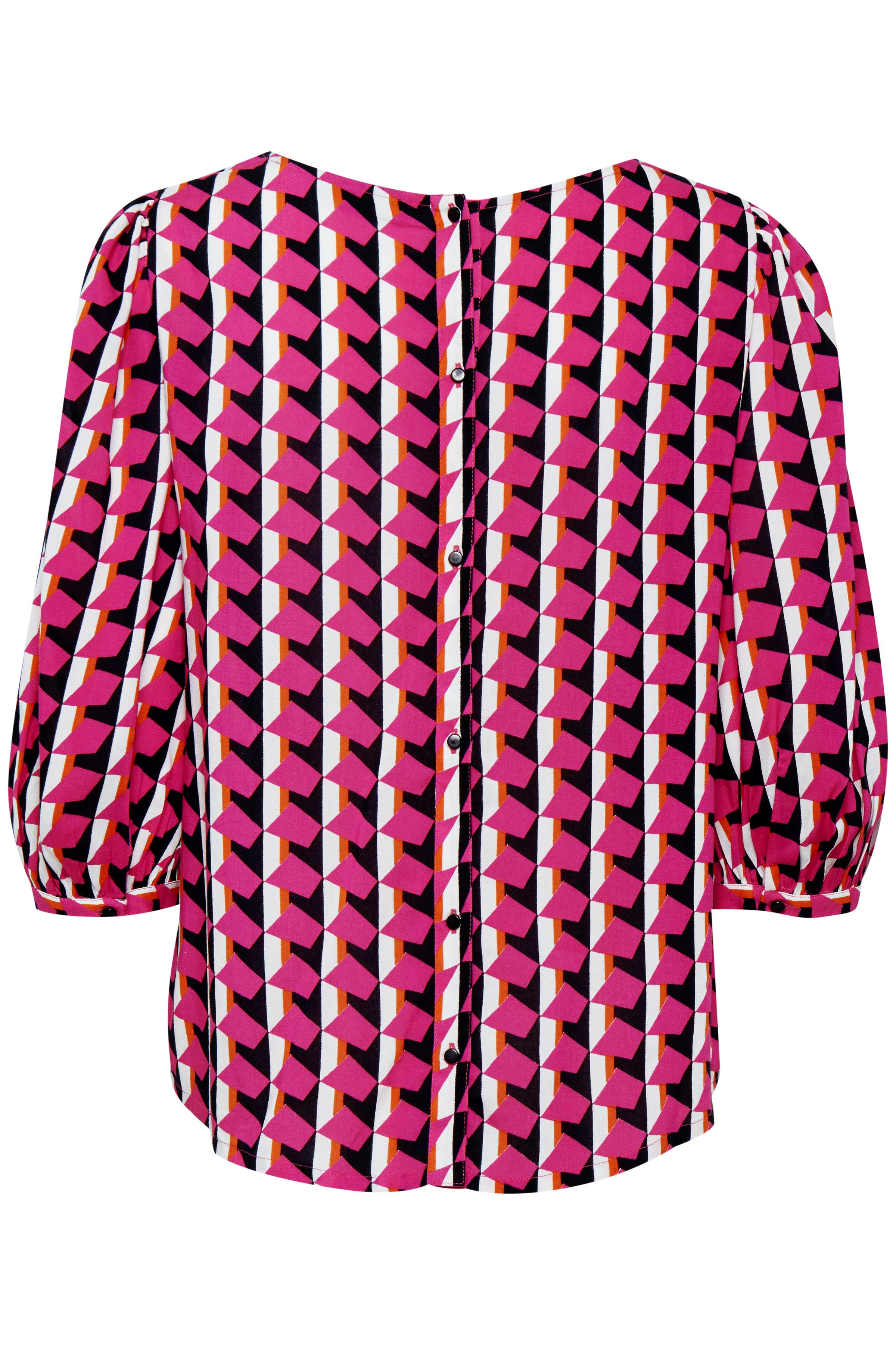 Pink/vit Blus från Fransa – Köp Pink/vit Blus från stl. XS-XXL här