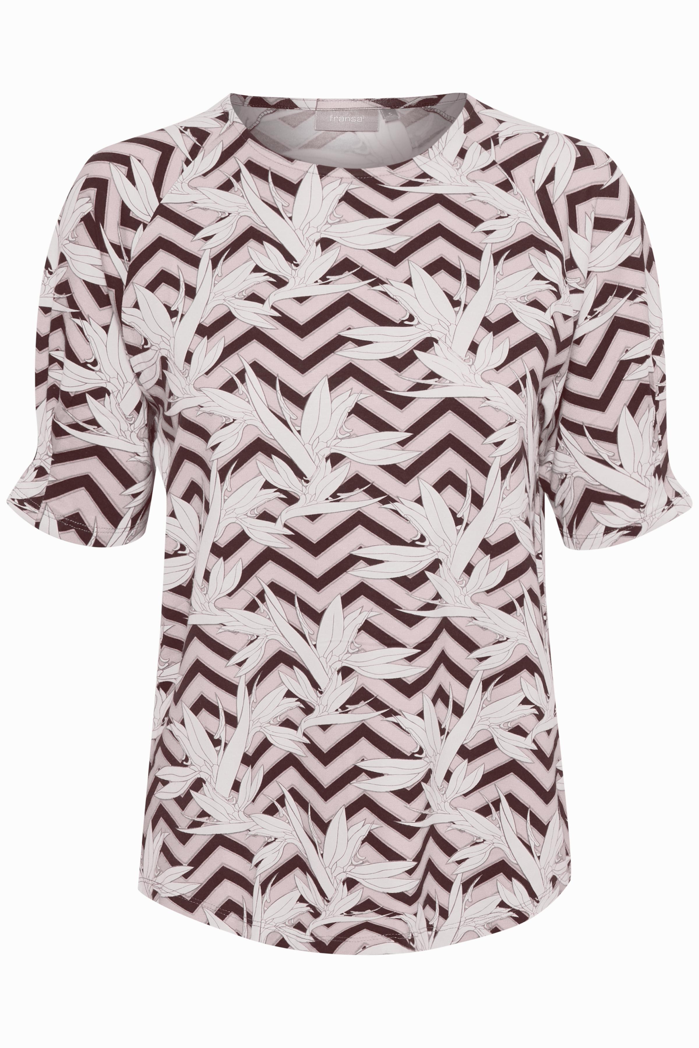 Pink/weiß Kurzarm T-Shirt von Fransa – Shoppen Sie Pink/weiß Kurzarm T-Shirt ab Gr. XS-XXL hier